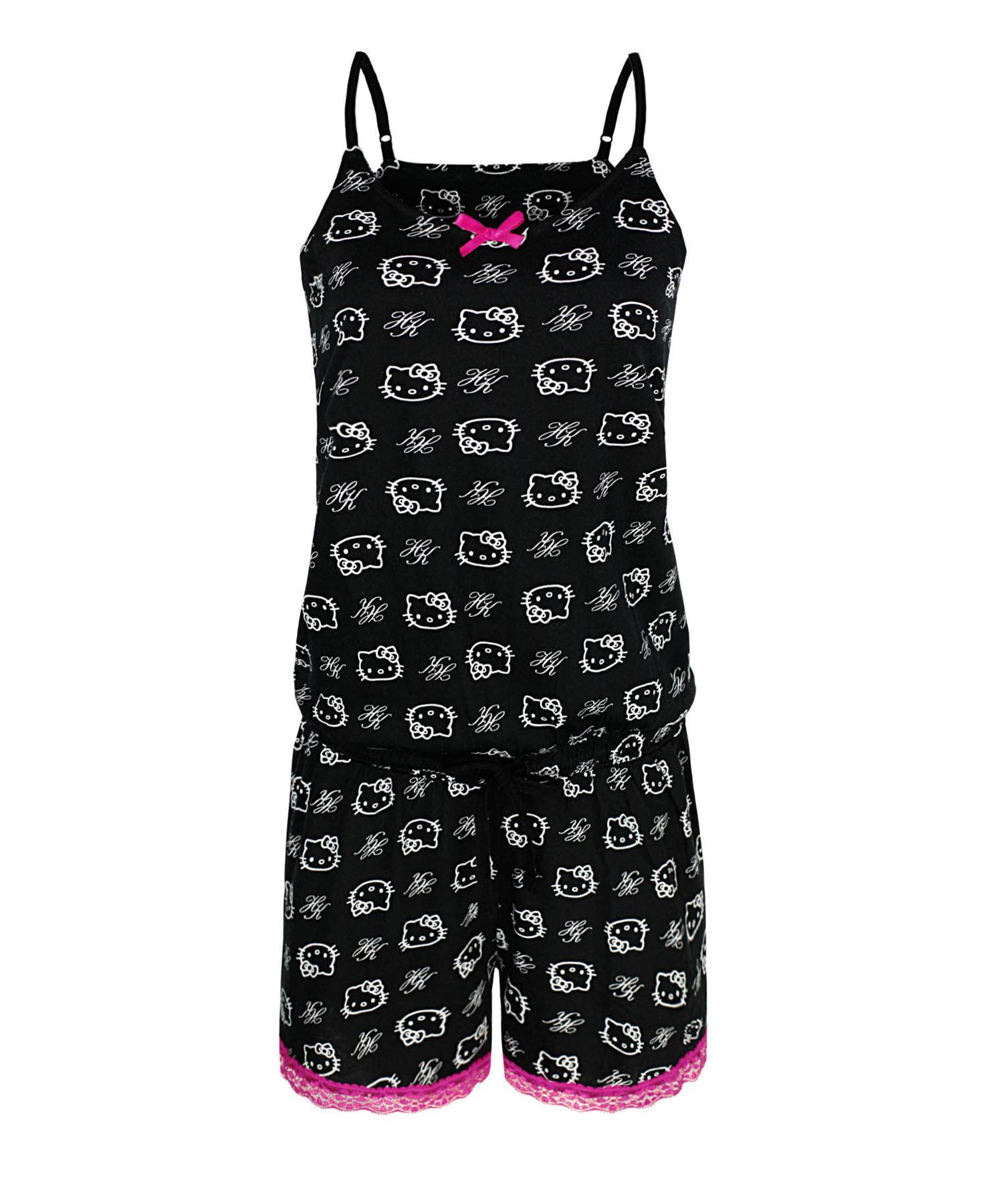 m dchen hello kitty nachtw sche baumwolle pyjama set kleid. Black Bedroom Furniture Sets. Home Design Ideas