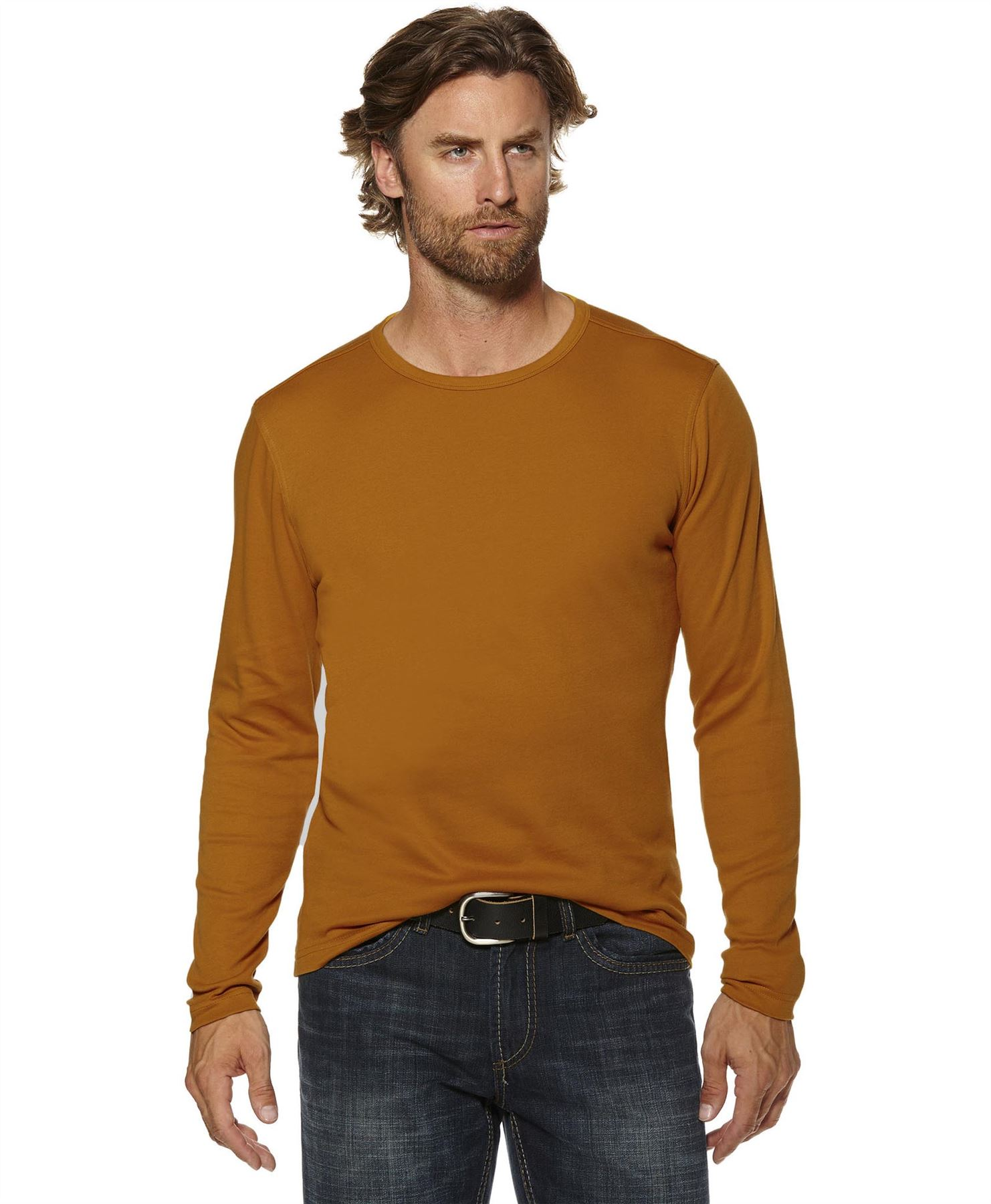 Mens Brown Long Sleeve T Shirt Artee Shirt