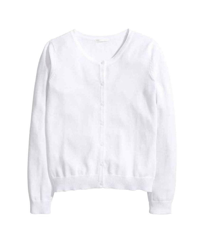 Ladies Fine Knit Cardigan Womens Ex H&M Long Sleeve Round Neck Top ...
