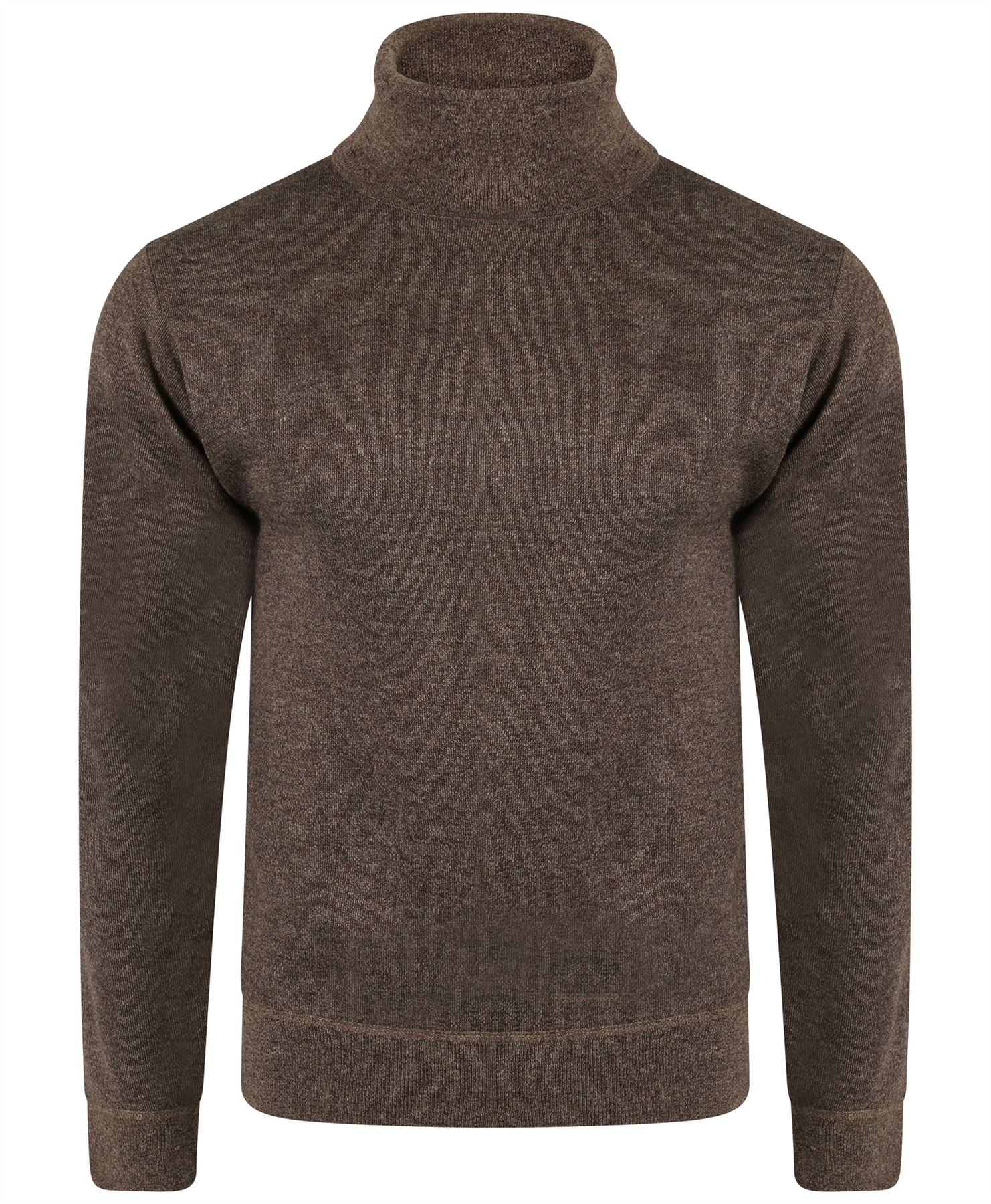 Knitting Pattern Plain Jumper : Mens Plain Turtleneck Jumper Long Sleeve Wool Blend Knit Pullover Sweater M-X...