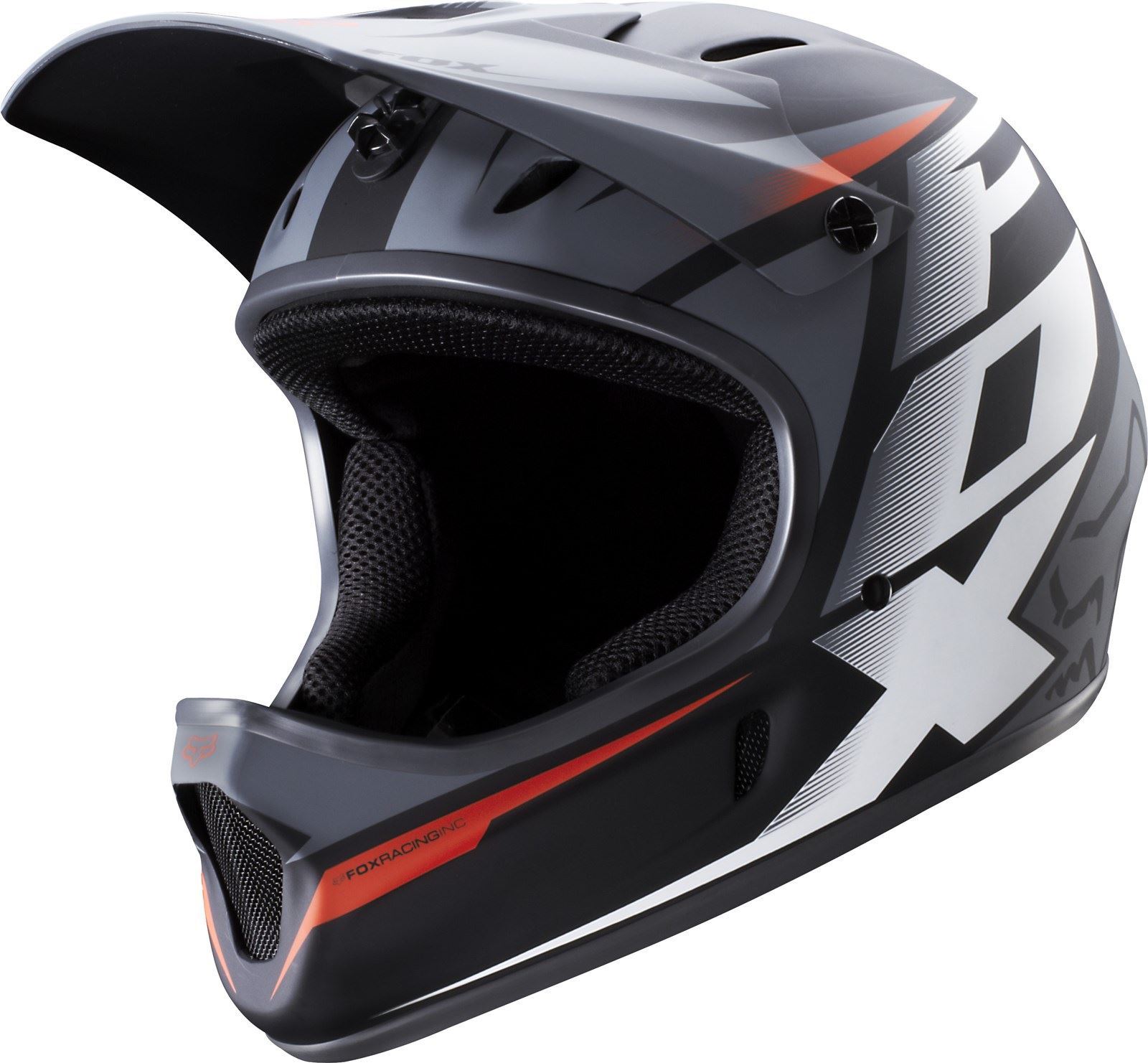 fox rampage mountain bike helmet black white full face. Black Bedroom Furniture Sets. Home Design Ideas