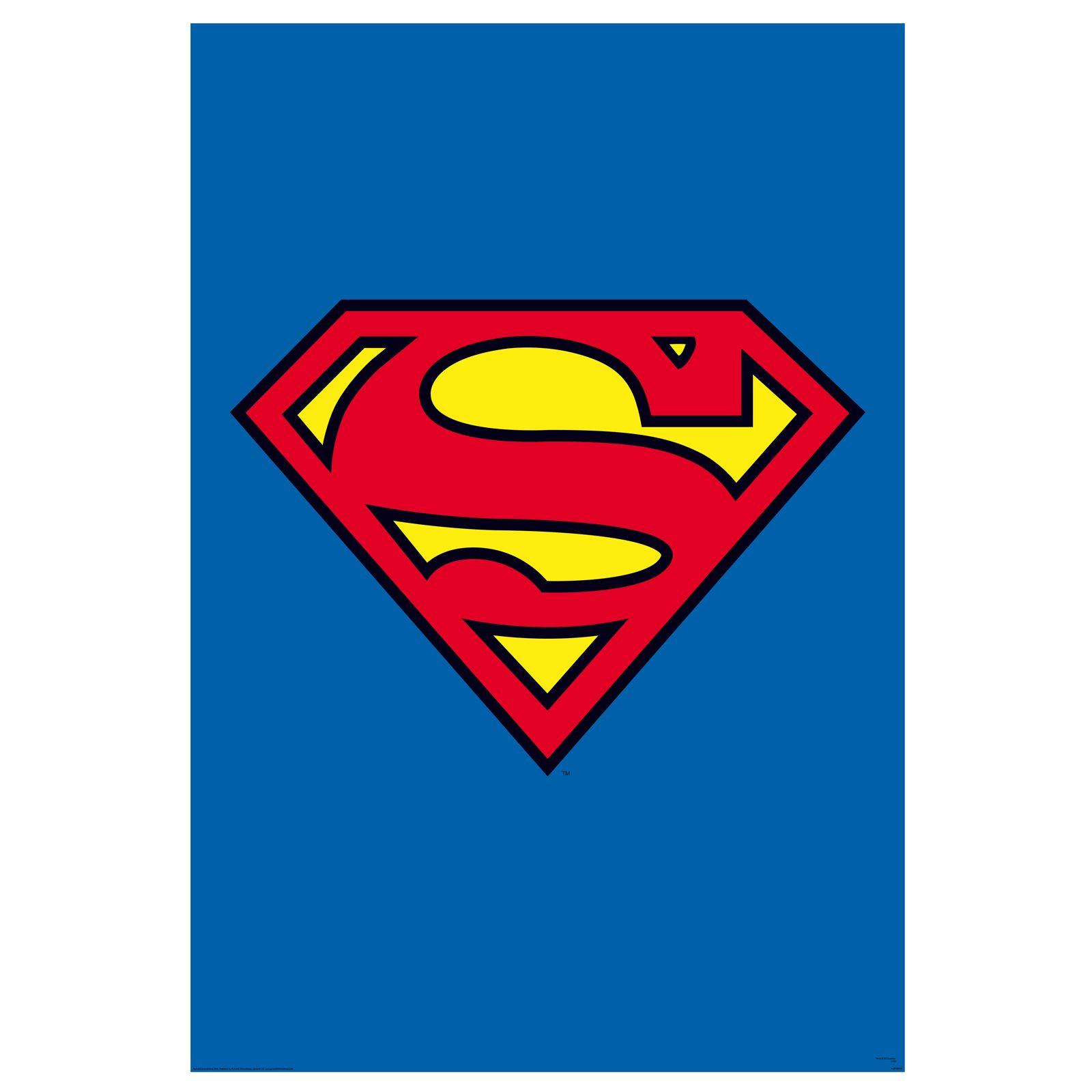 superman logo tapete wandbild x neu. Black Bedroom Furniture Sets. Home Design Ideas