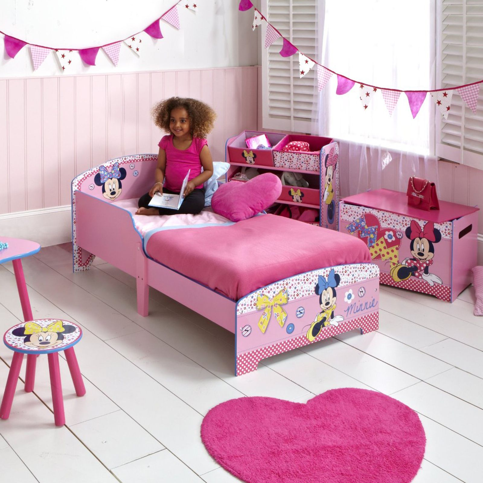 minnie mouse mdf kleinkind bett neu offiziell kinder m bel. Black Bedroom Furniture Sets. Home Design Ideas