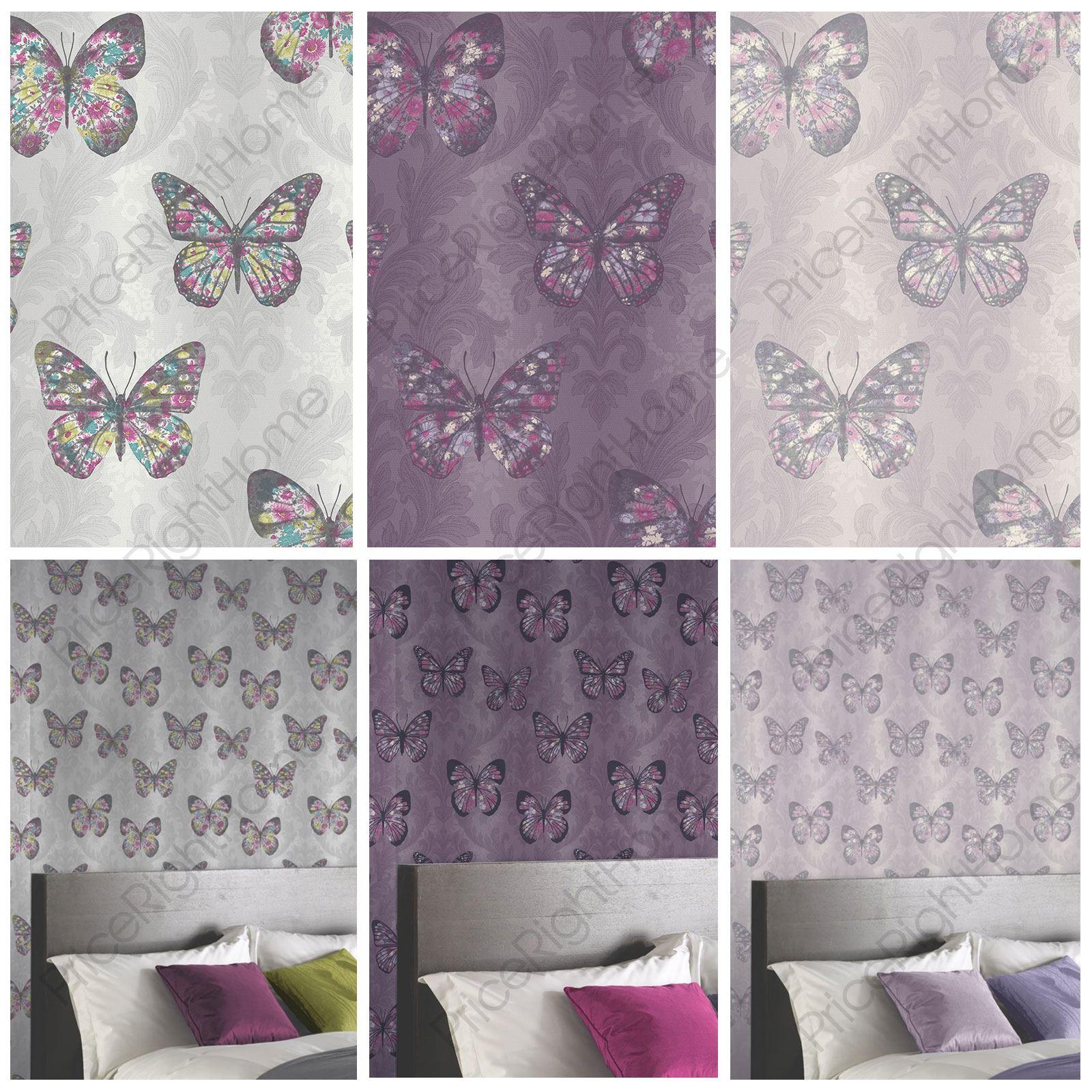 Glitzer Schmetterling Tapete : Dove with Purple Background