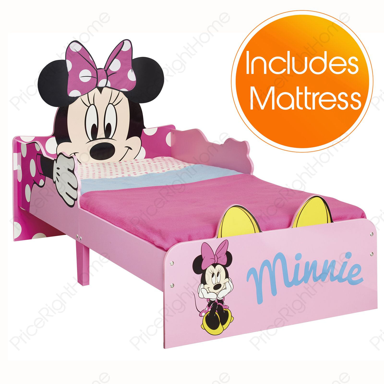 minnie mouse snuggletime mdf kinderbett matratze neues schlafzimmer ebay. Black Bedroom Furniture Sets. Home Design Ideas