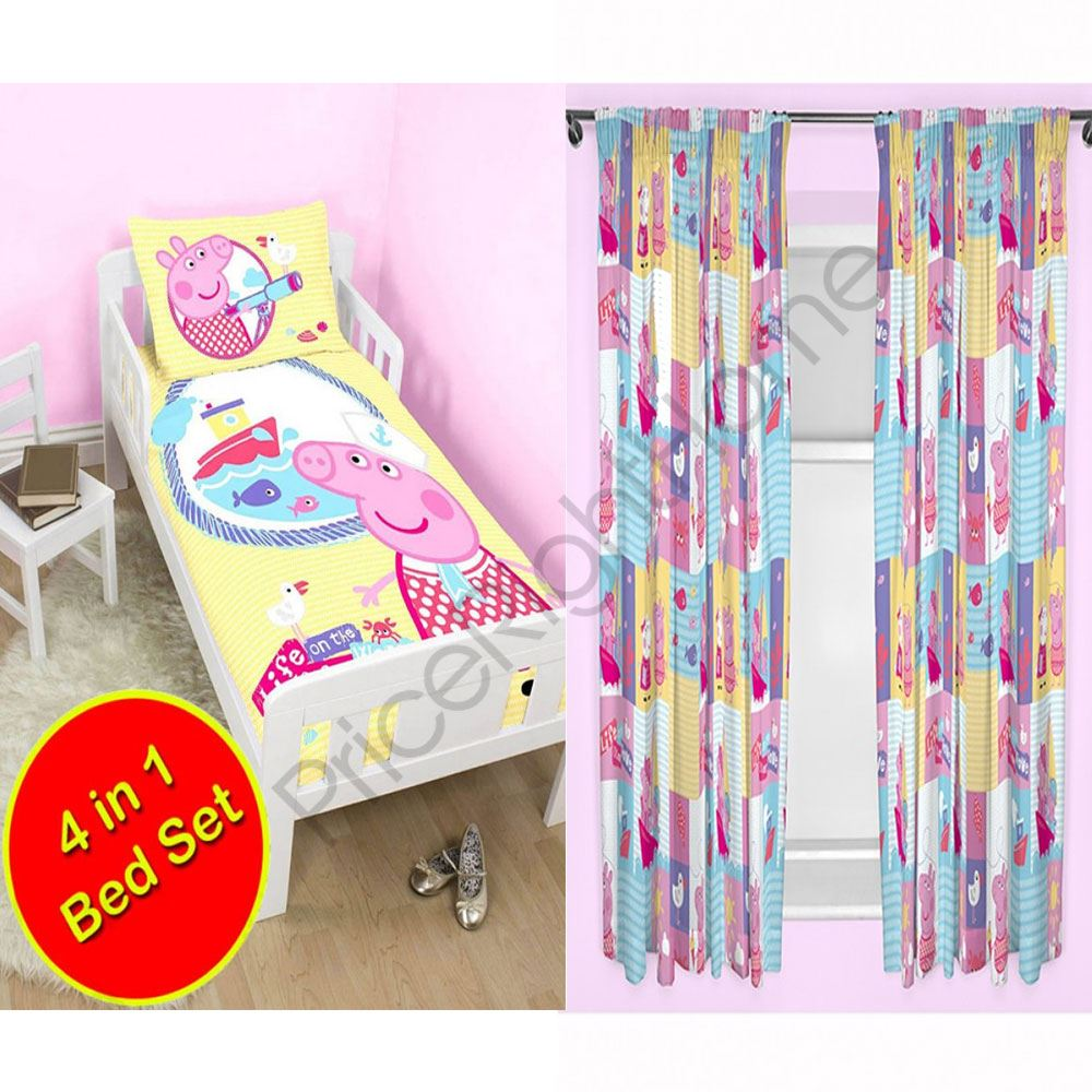 Peppa Pig Bedroom Furniture Peppa Pig Nautical Bedding Amp Curtains Range In Single Double
