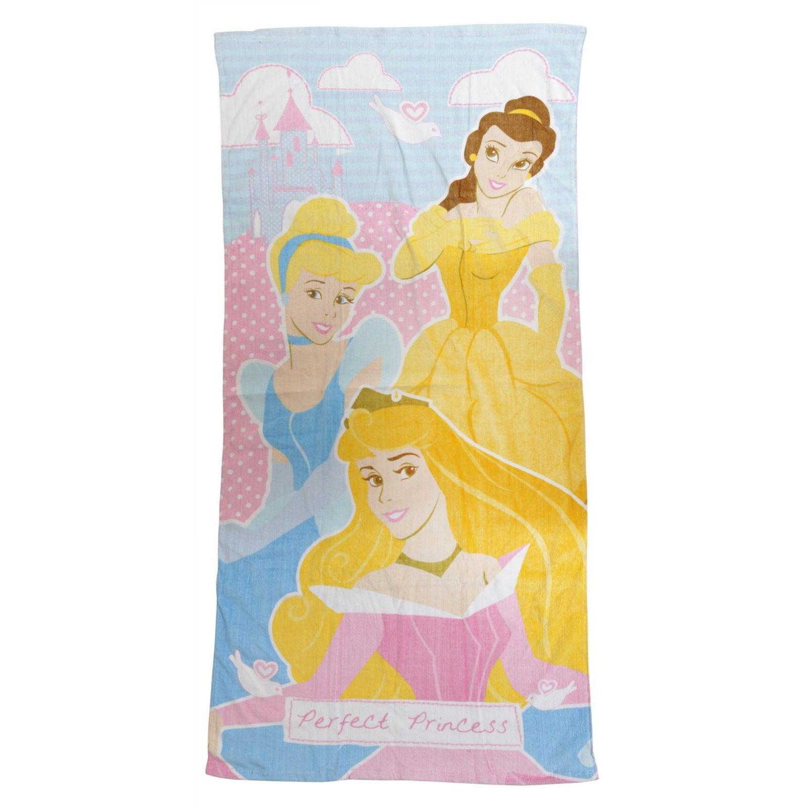 DISNEY PRINCESS BEACH / BATH TOWELS 100% COTTON GIRLS HOLIDAY SWIMMING ...