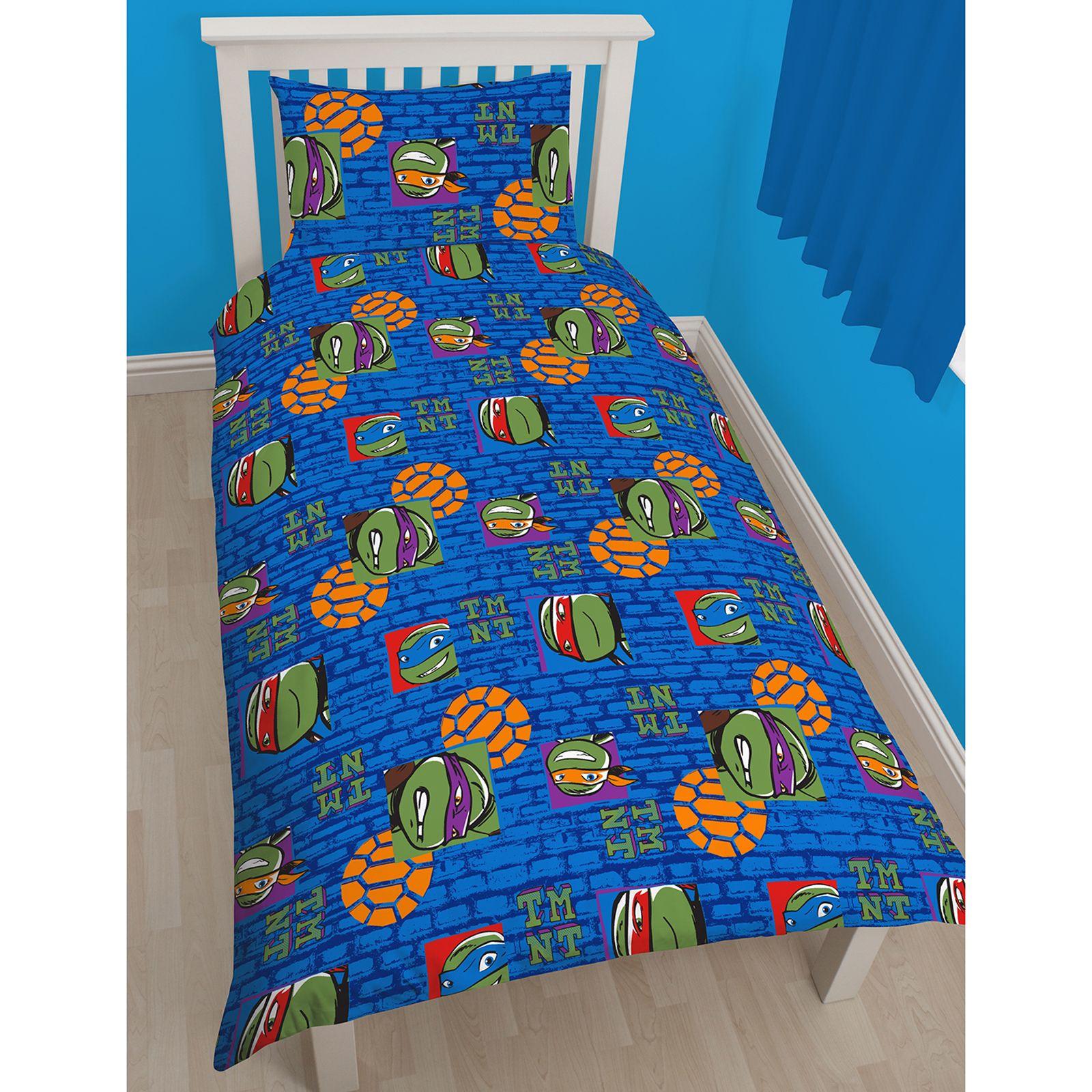 teenage mutant ninja turtles bettw sche einzel sets jungen schlafzimmer ebay. Black Bedroom Furniture Sets. Home Design Ideas