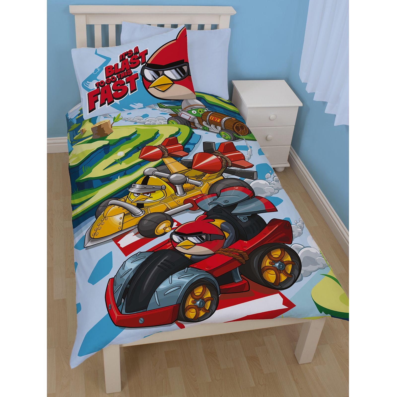 Angry Birds Single Duvet Cover Sets Kids Bedding Boys