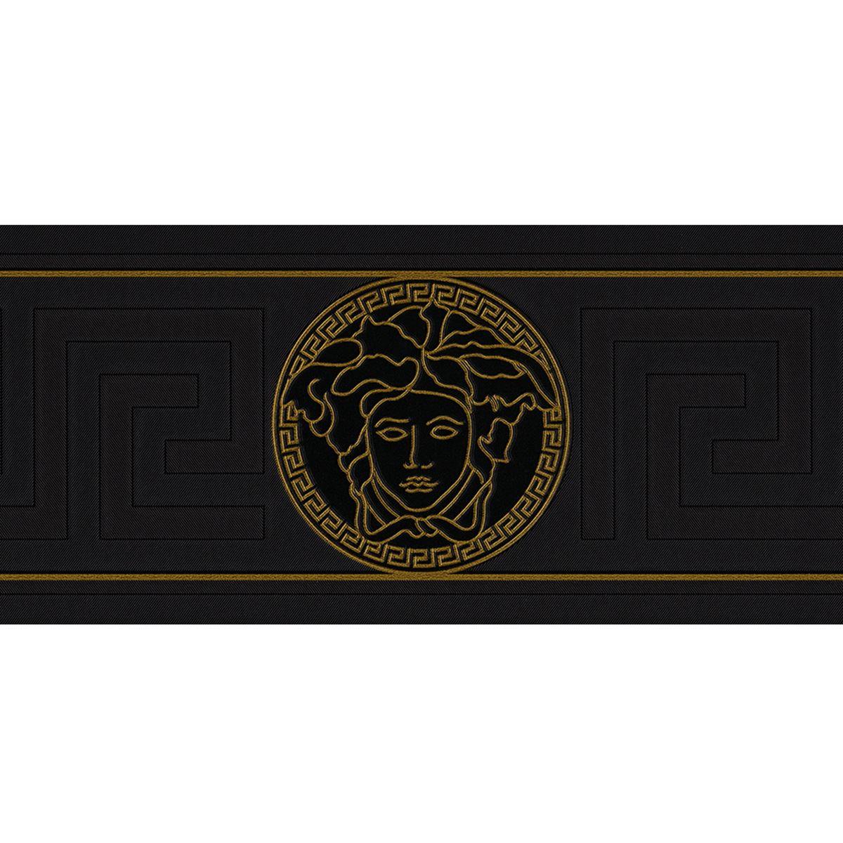 versace designer wallpaper and border range gold silver