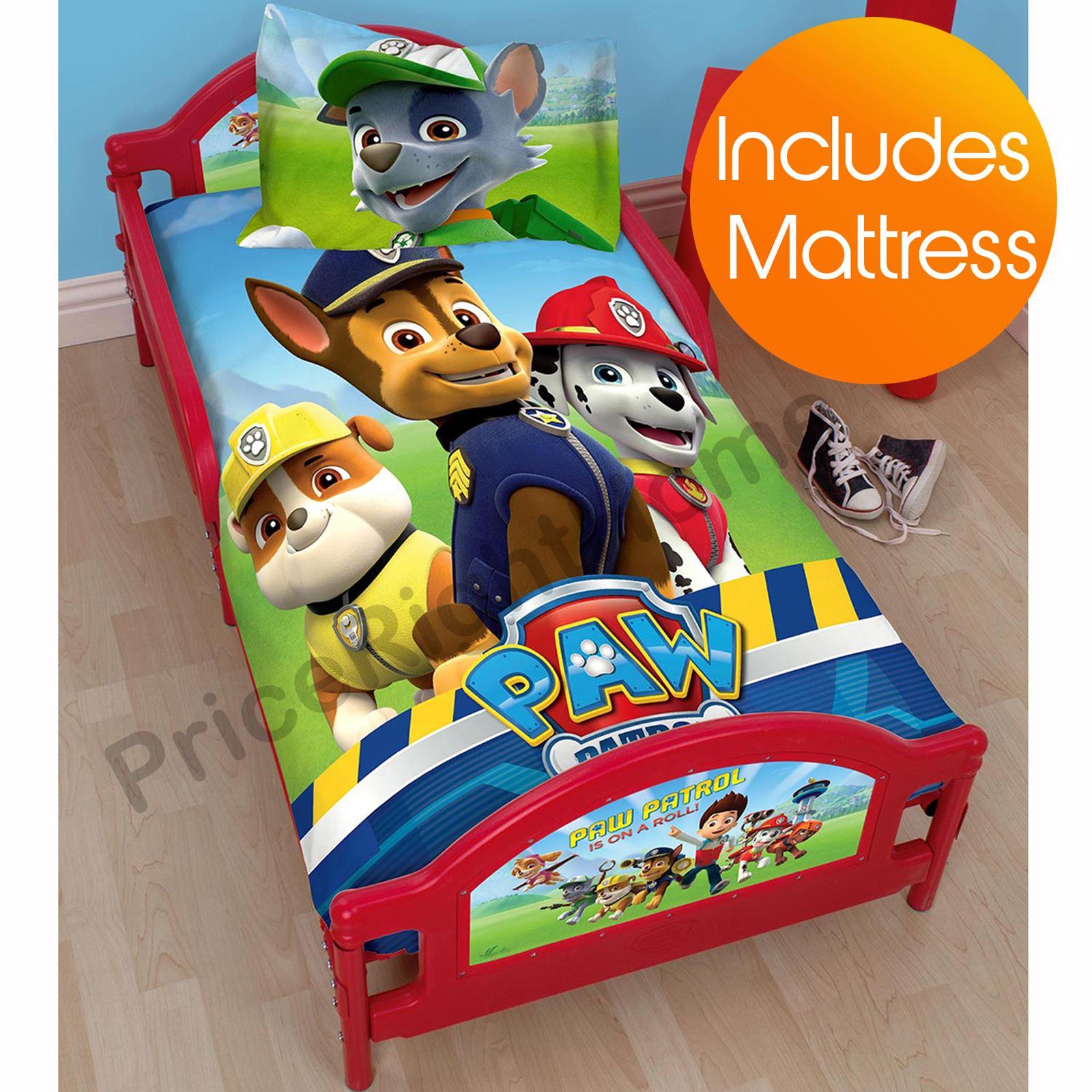 paw patrol rescue junior kleinkind bett mit oder ohne neue matratze ebay. Black Bedroom Furniture Sets. Home Design Ideas