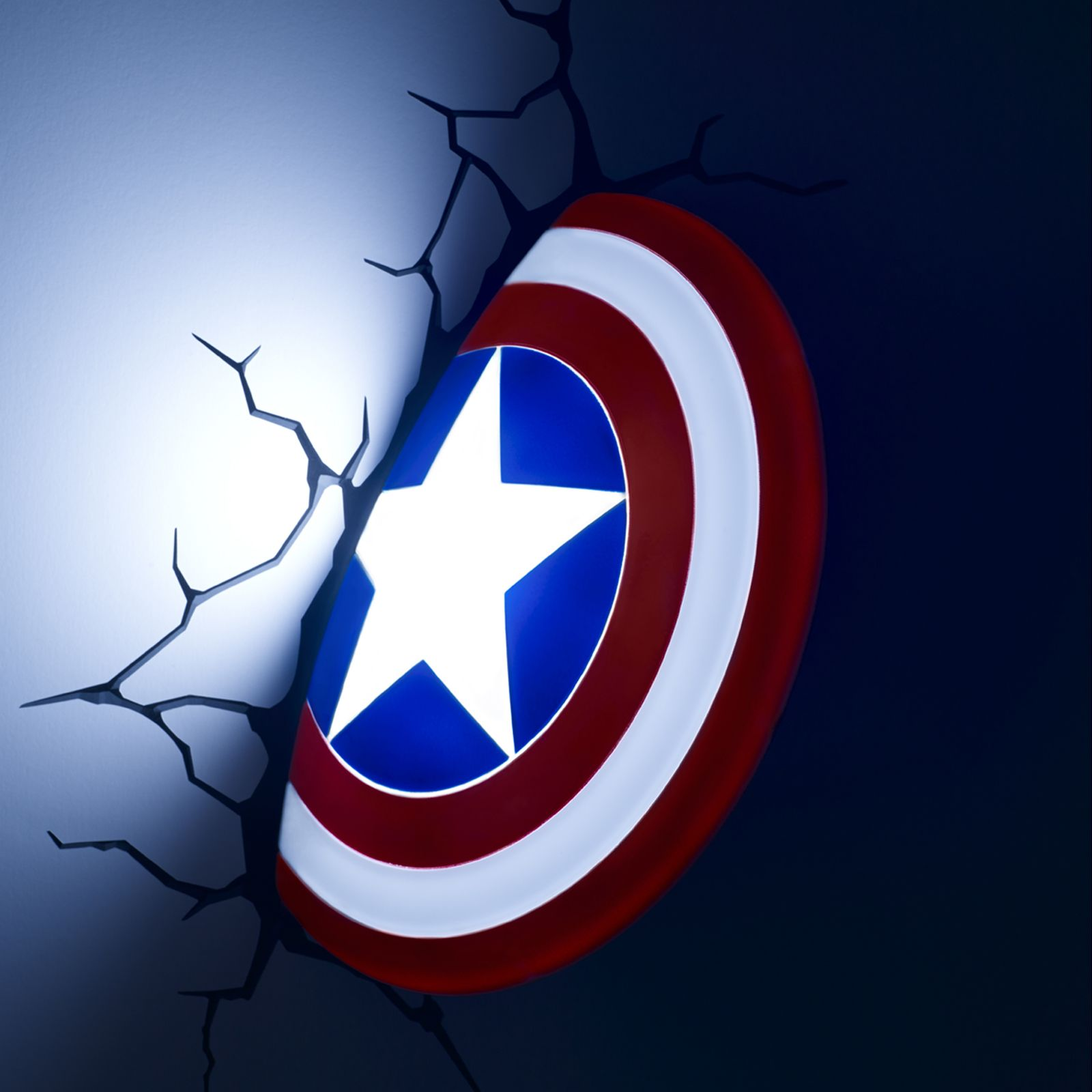 Star Wall Stickers Uk Marvel Captain America Shield 3d Fx Led Wall Light Lamp