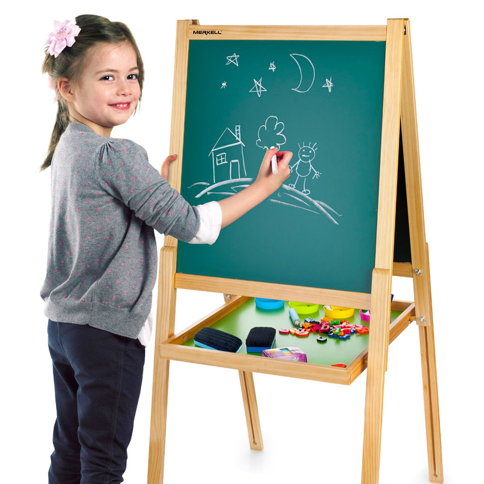 kids easel chalk drawing board double sided age 3 childrens paw patrol more ebay. Black Bedroom Furniture Sets. Home Design Ideas