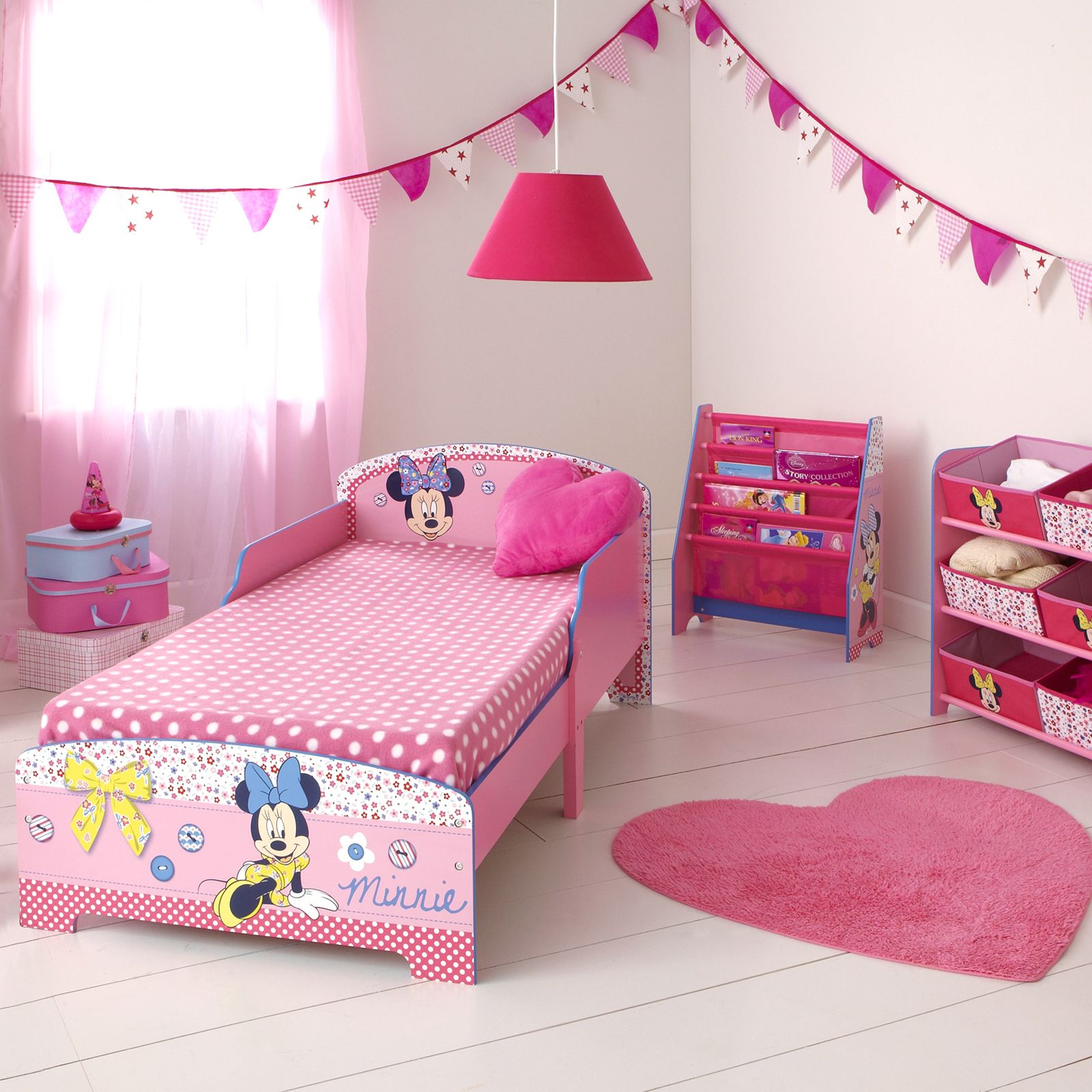 minnie mouse mdf kleinkind bett neu offiziell kinder m bel ebay. Black Bedroom Furniture Sets. Home Design Ideas