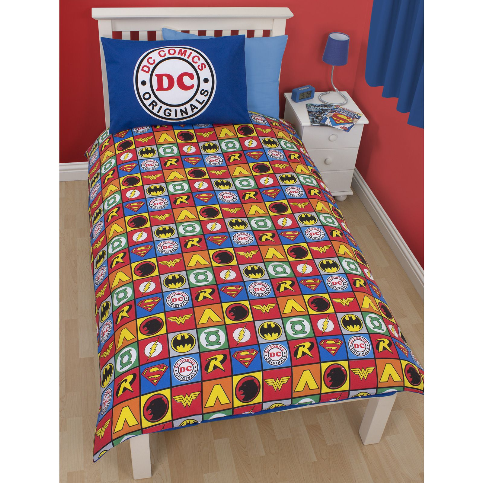 Dulux Marvel Avengers Bedroom In A Box Officially Awesome: DC COMICS ORIGINALS COLLECTION SINGLE DUVET COVER SET