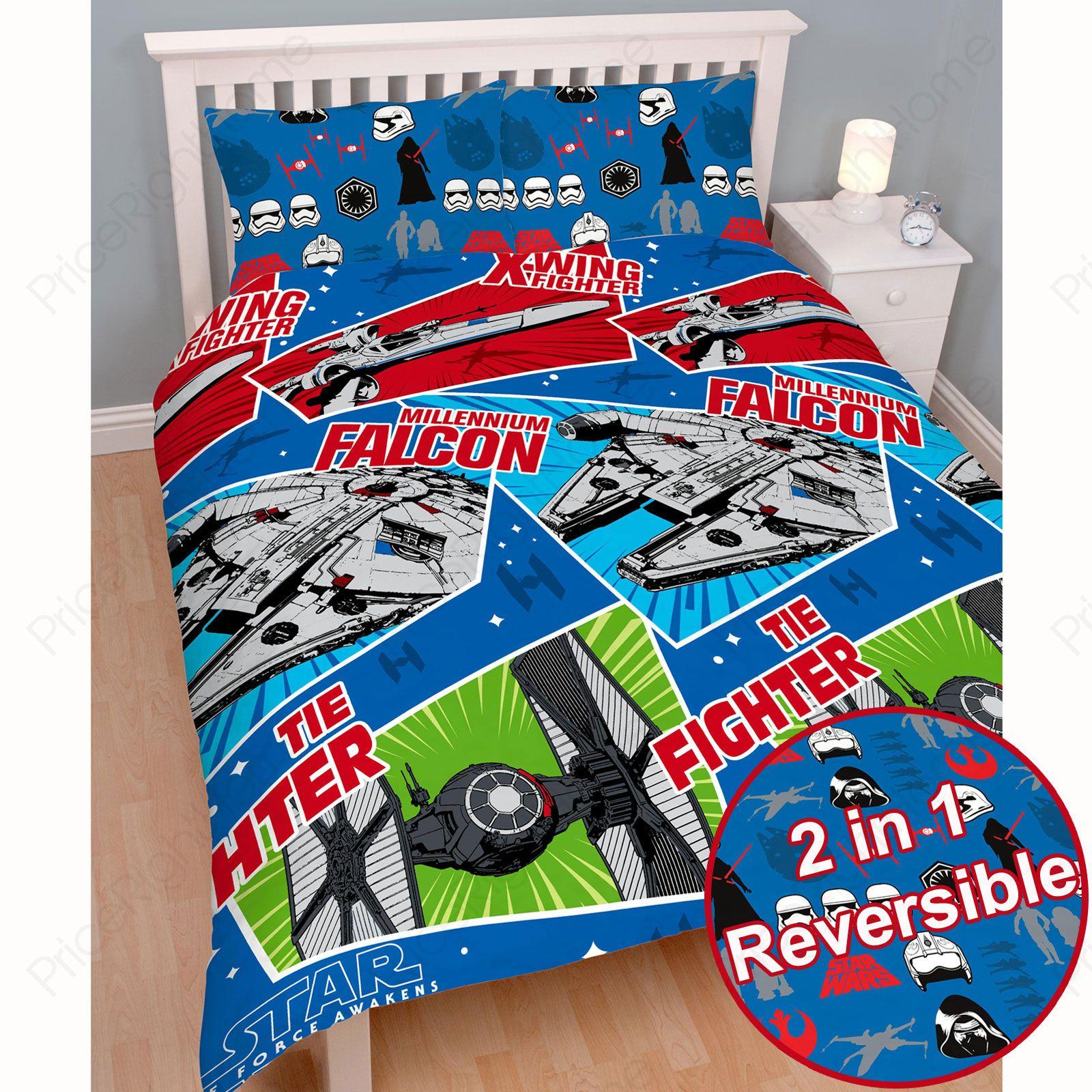 star wars pisode vii 039 artisanat 039 housse de couette double nouvelle force r veil ebay. Black Bedroom Furniture Sets. Home Design Ideas