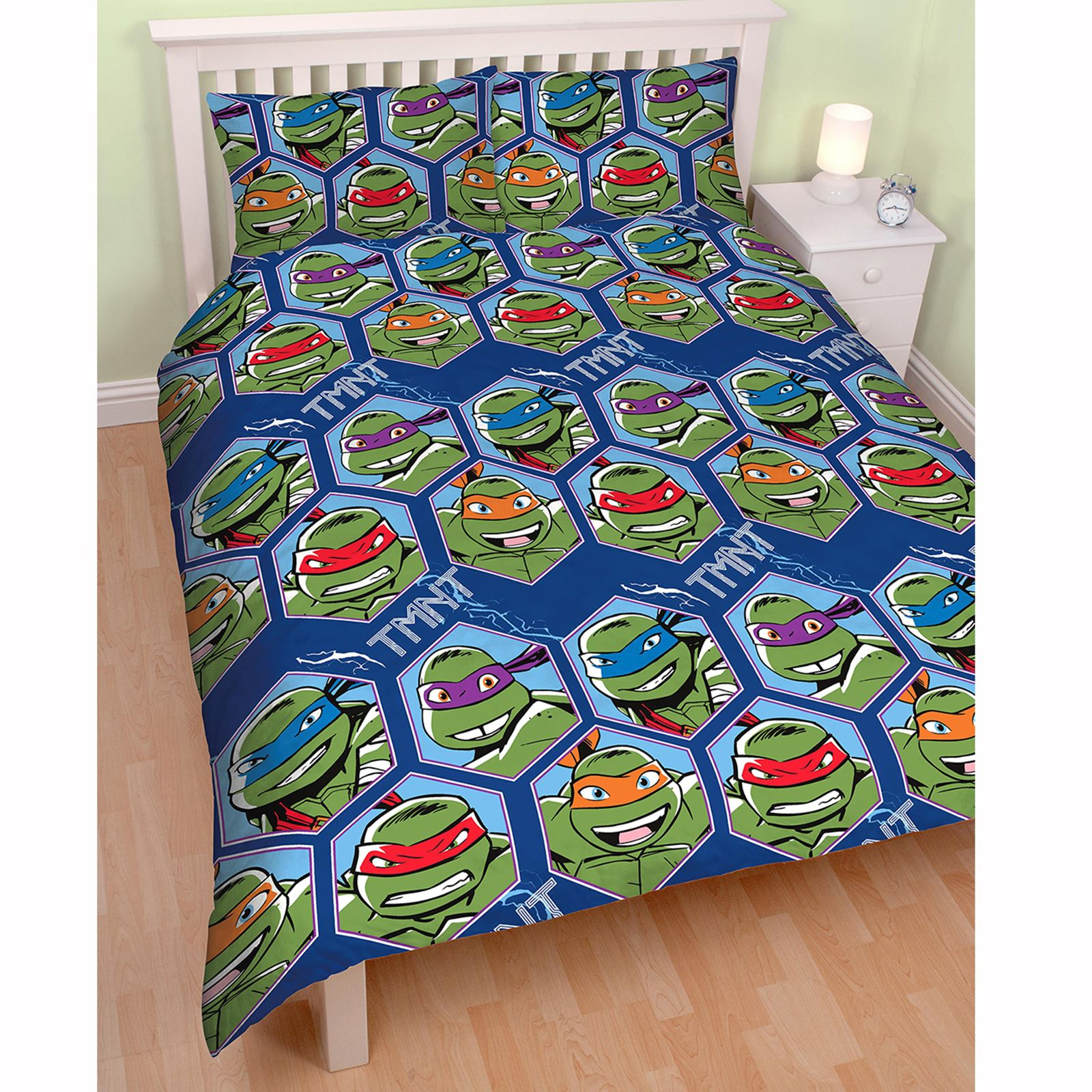 teenage mutant ninja turtles dimension set housse de couette double officiel ebay. Black Bedroom Furniture Sets. Home Design Ideas