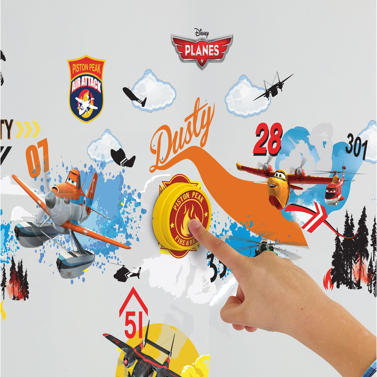 about disney planes doorbell with 40 wall stickers new room decor kids