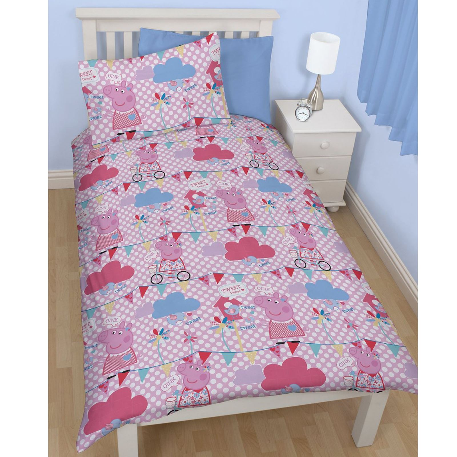 Peppa pig tweet set housse de couette simple neuf pour for Housse de couette simple