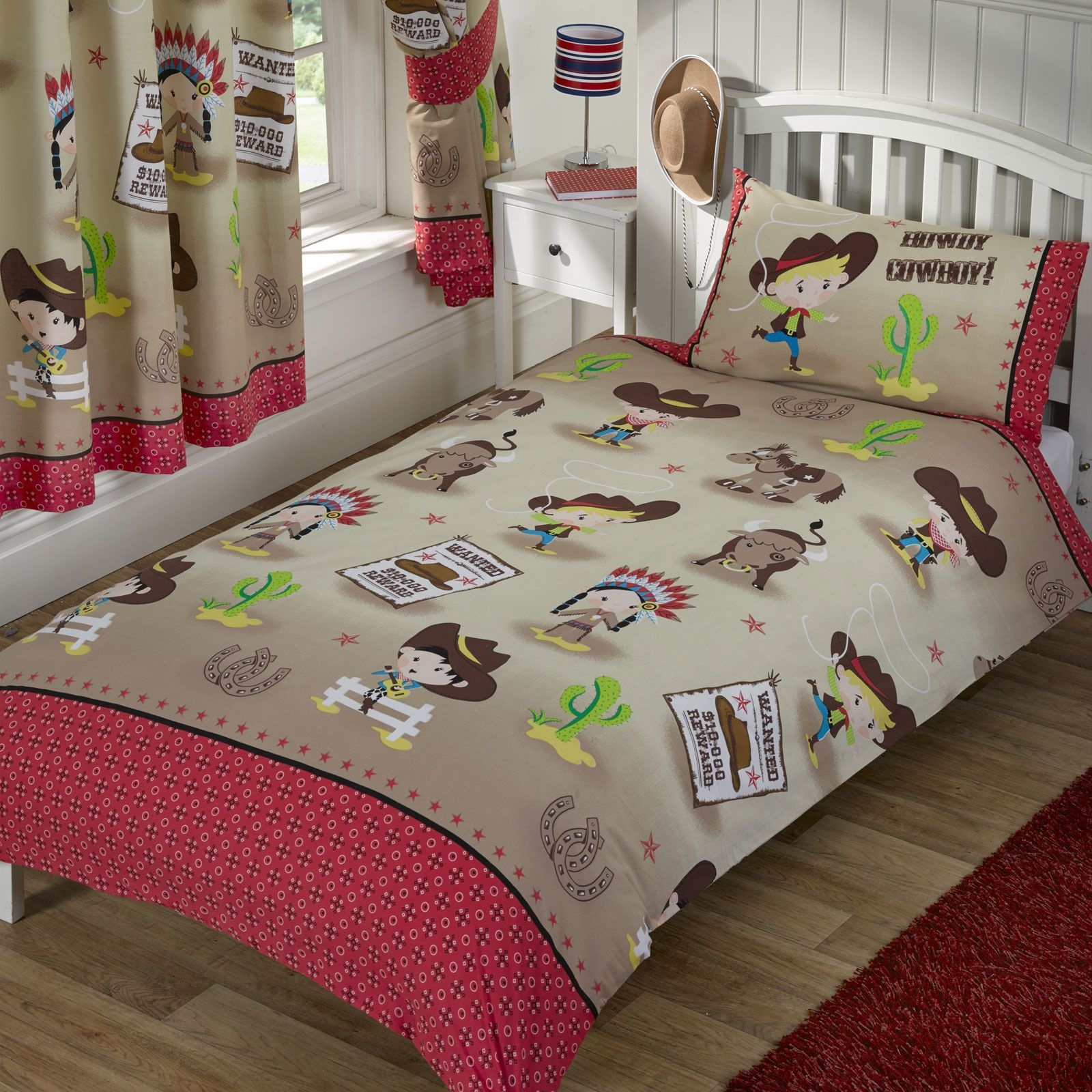 howdy cowboy chambre gamme simple double junior rideaux disponible enfants. Black Bedroom Furniture Sets. Home Design Ideas
