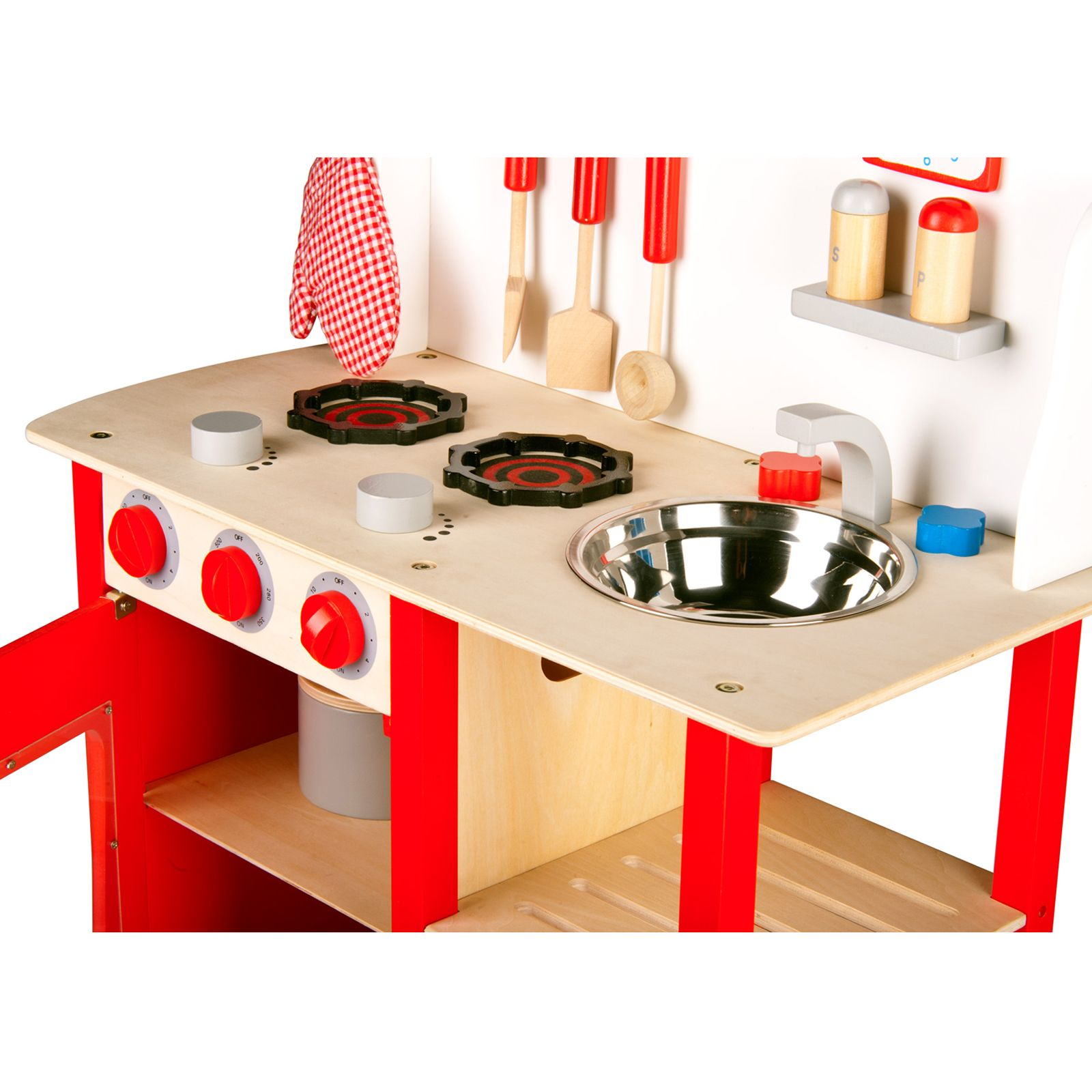 LEOMARK WOODEN KITCHEN CHILDRENS PLAY KITCHEN WITH