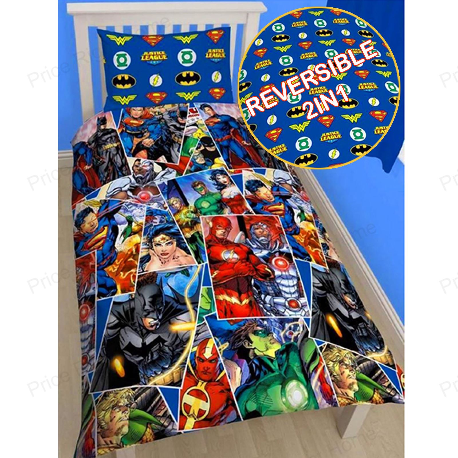 justice league single duvet cover superman batman wonder woman bedding