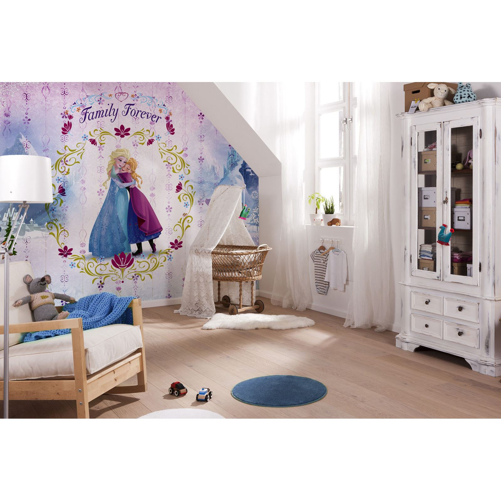 Disney princess eisk nigin tapete wandmalerei anna - Kinderzimmer eiskonigin ...