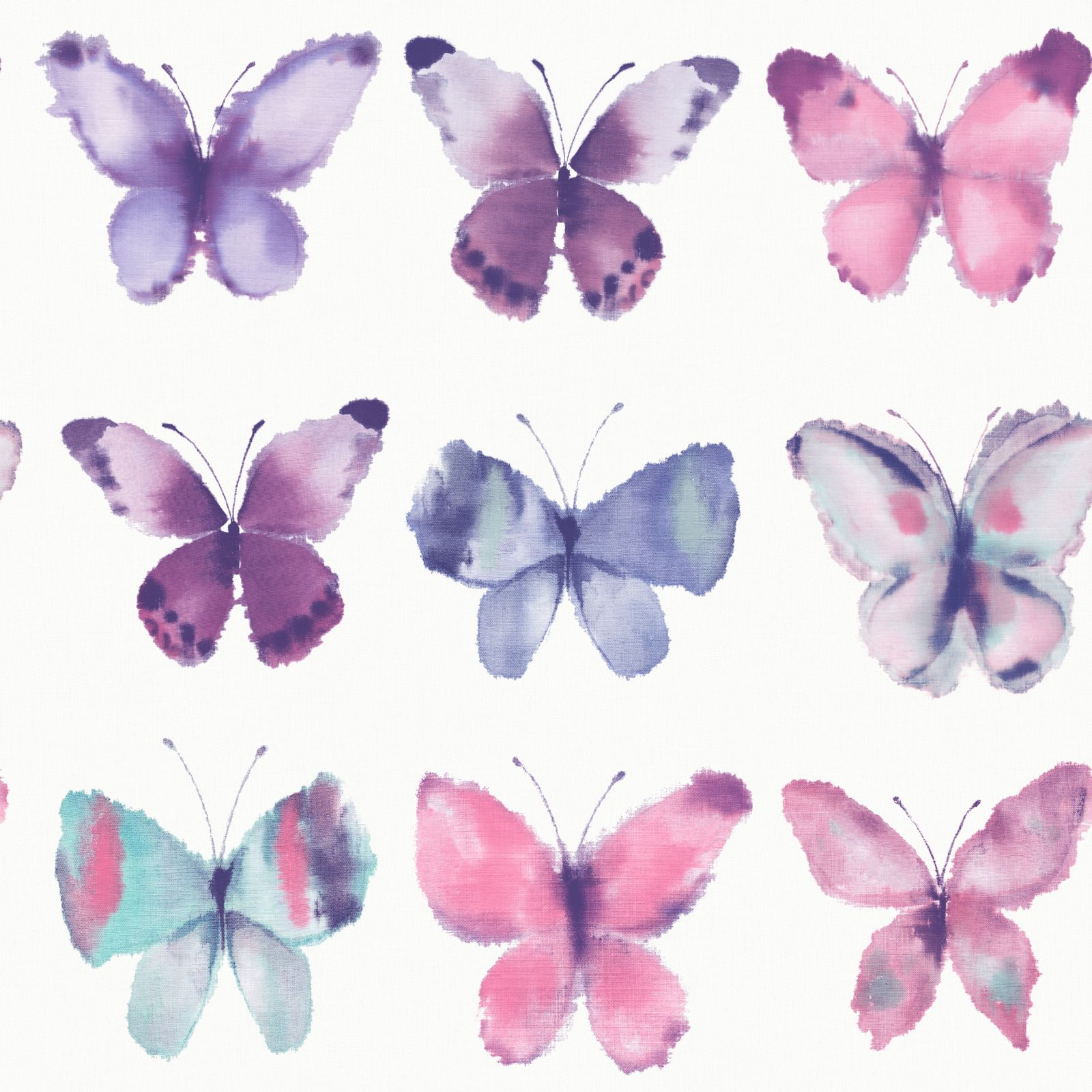 PINK BUTTERFLIES WALLPAPER - RASCH 273618