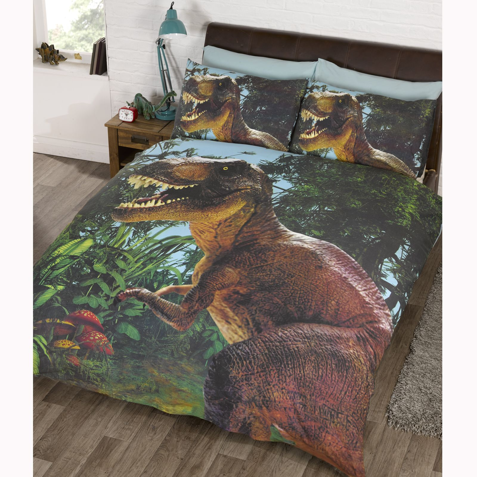 about jurassic t rex dinosaur double duvet cover set exclusive park
