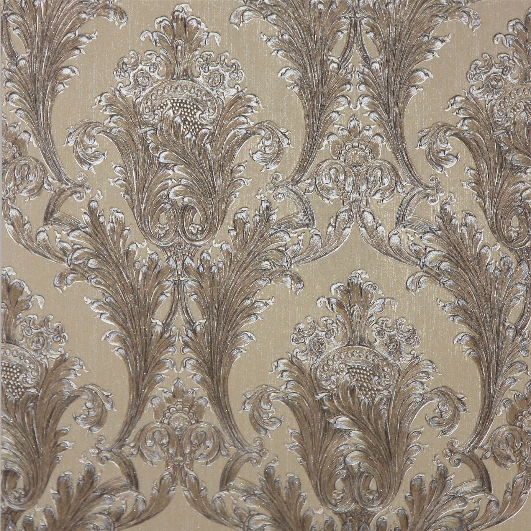 ARTHOUSE FIGARO DAMASK WALLPAPER RED CREAM CHARCOAL