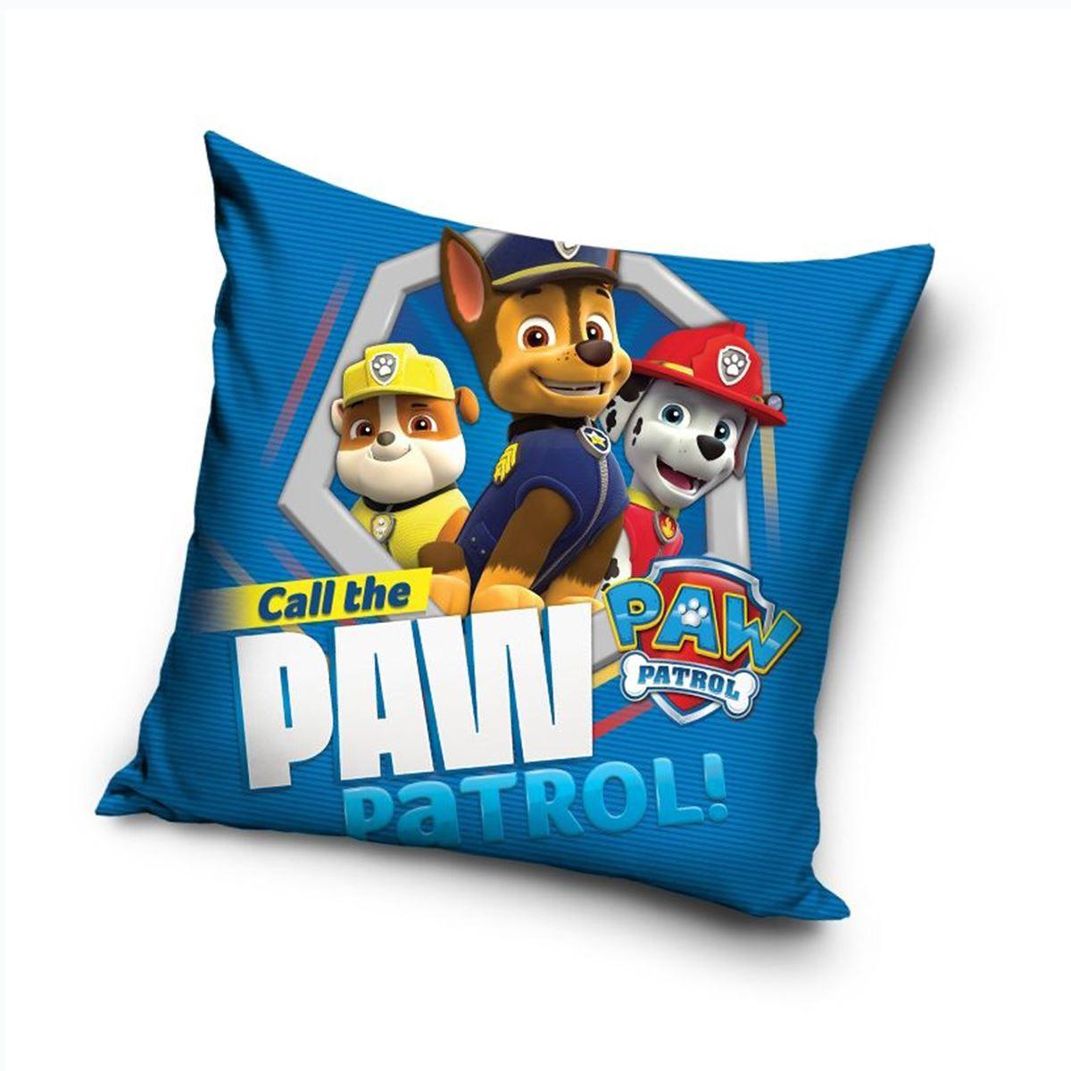 Paw Patrol Trio Cushion Blue Kids Childrens Marshall Chase