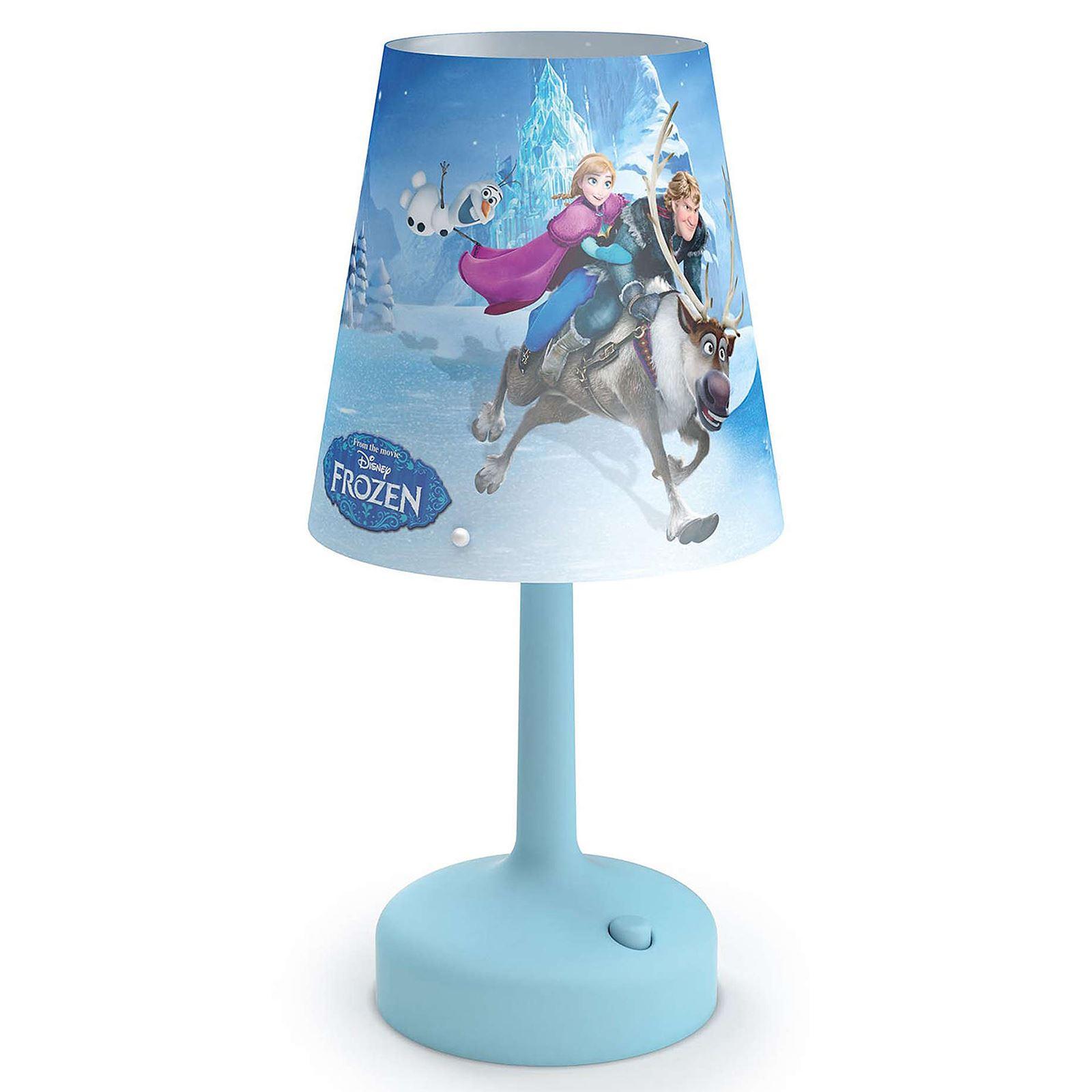 DISNEY FROZEN PORTABLE TABLE LAMP KIDS BEDROOM LIGHTING ...
