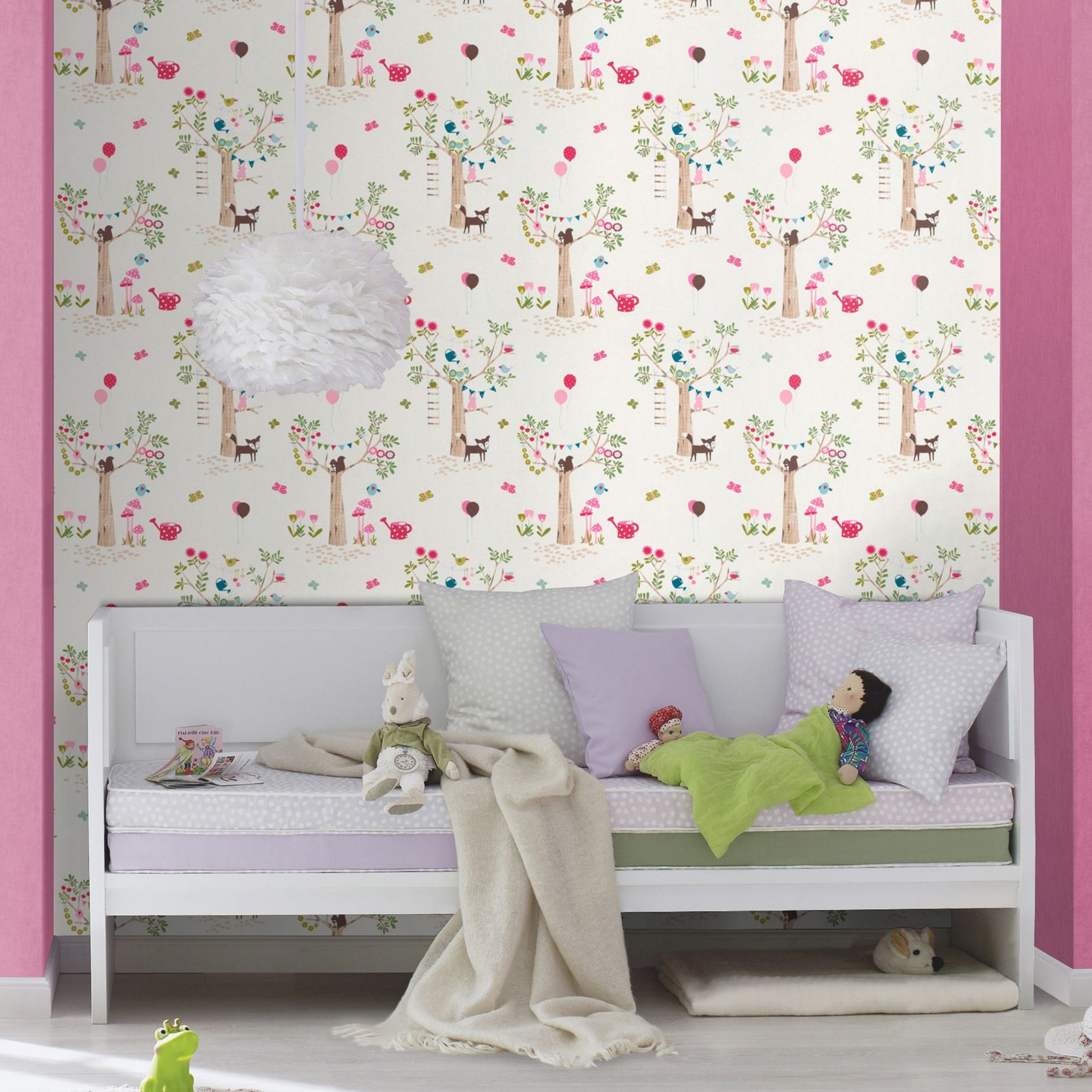 details about woodland animals wallpaper borders bedroom nurser
