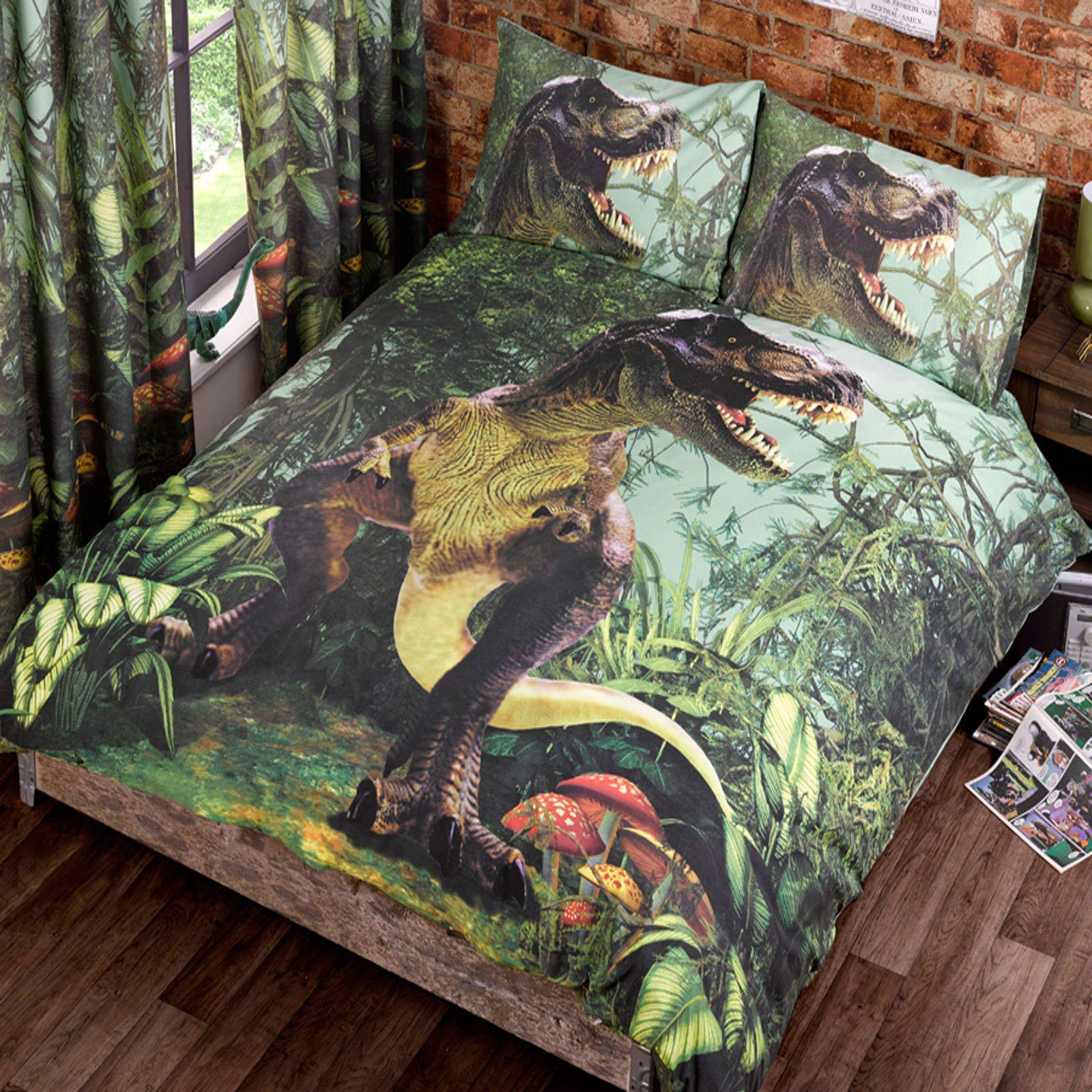 T Rex Dinosaur Jurassic Jungle Bedroom Range Single