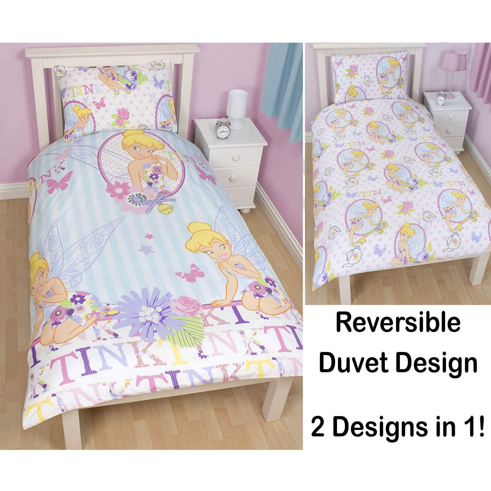 housse de couette simple imprim caract re disney parure de lit enfants ebay. Black Bedroom Furniture Sets. Home Design Ideas