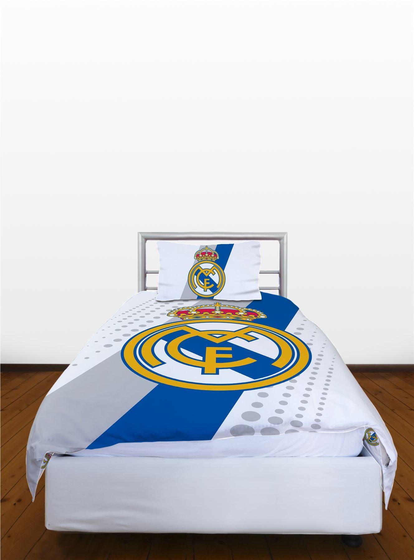 accessoires de chambre football aux couleurs du real madrid ebay. Black Bedroom Furniture Sets. Home Design Ideas