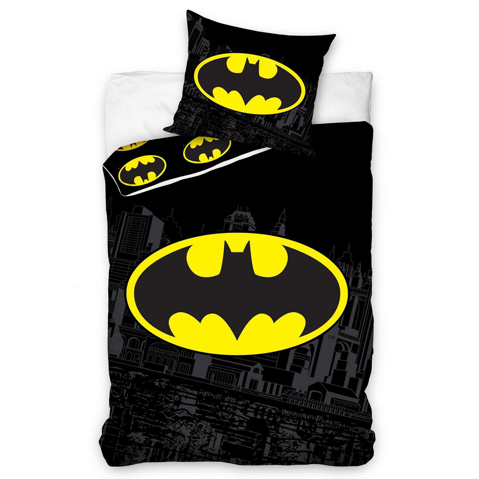 DC ICS BATMAN & SUPERMAN DUVET COVER AND PILLOWCASE SETS BEDROOM BEDDI