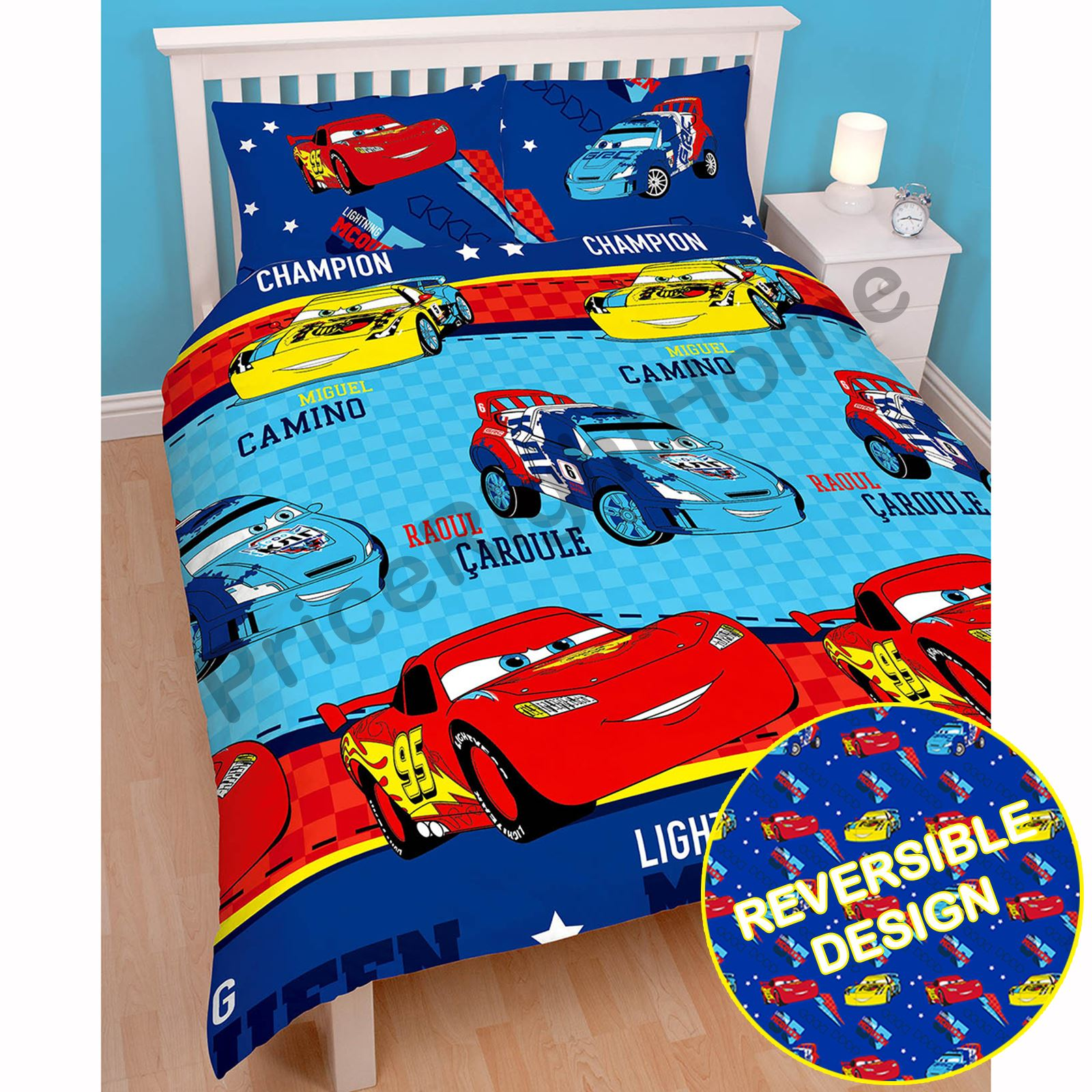 disney cars duvet cover sets in single, double and junior sizes
