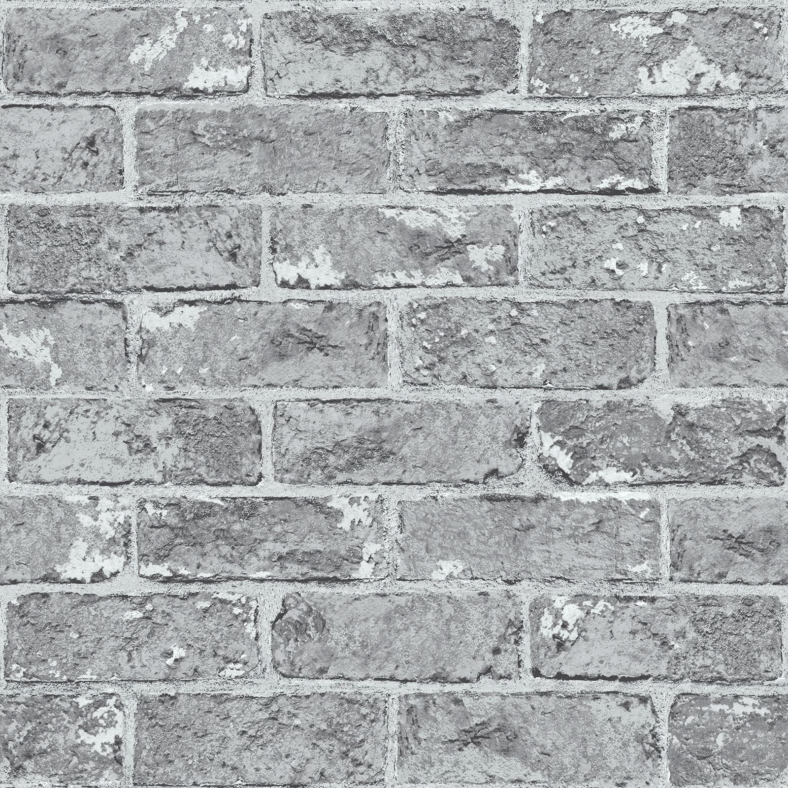 grey brick effect wallpaper suitable for any room ebay
