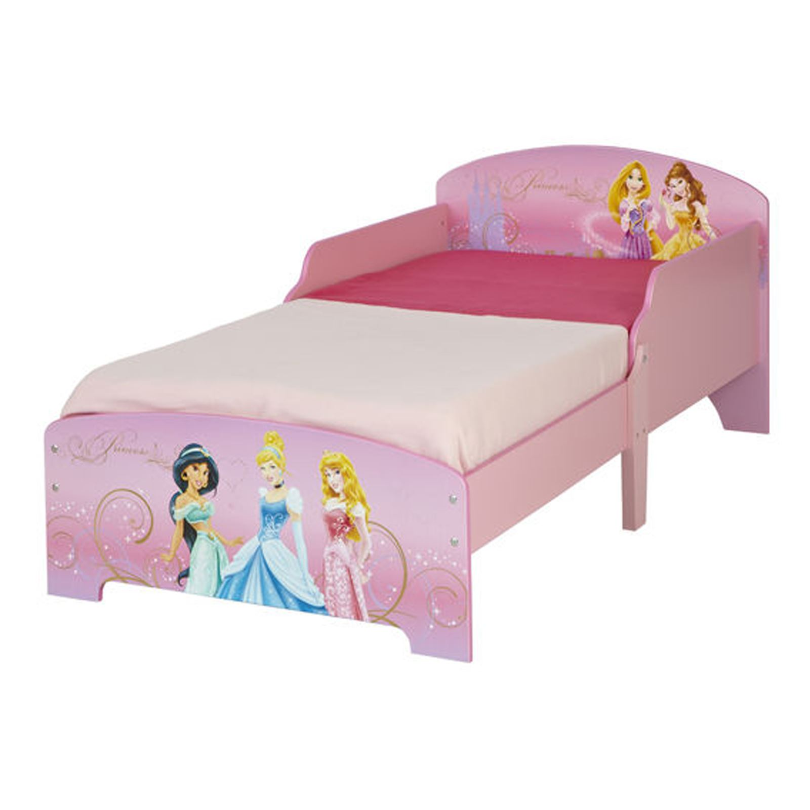 DISNEY PRINCESS MDF TODDLER BED NEW JUNIOR BEDROOM