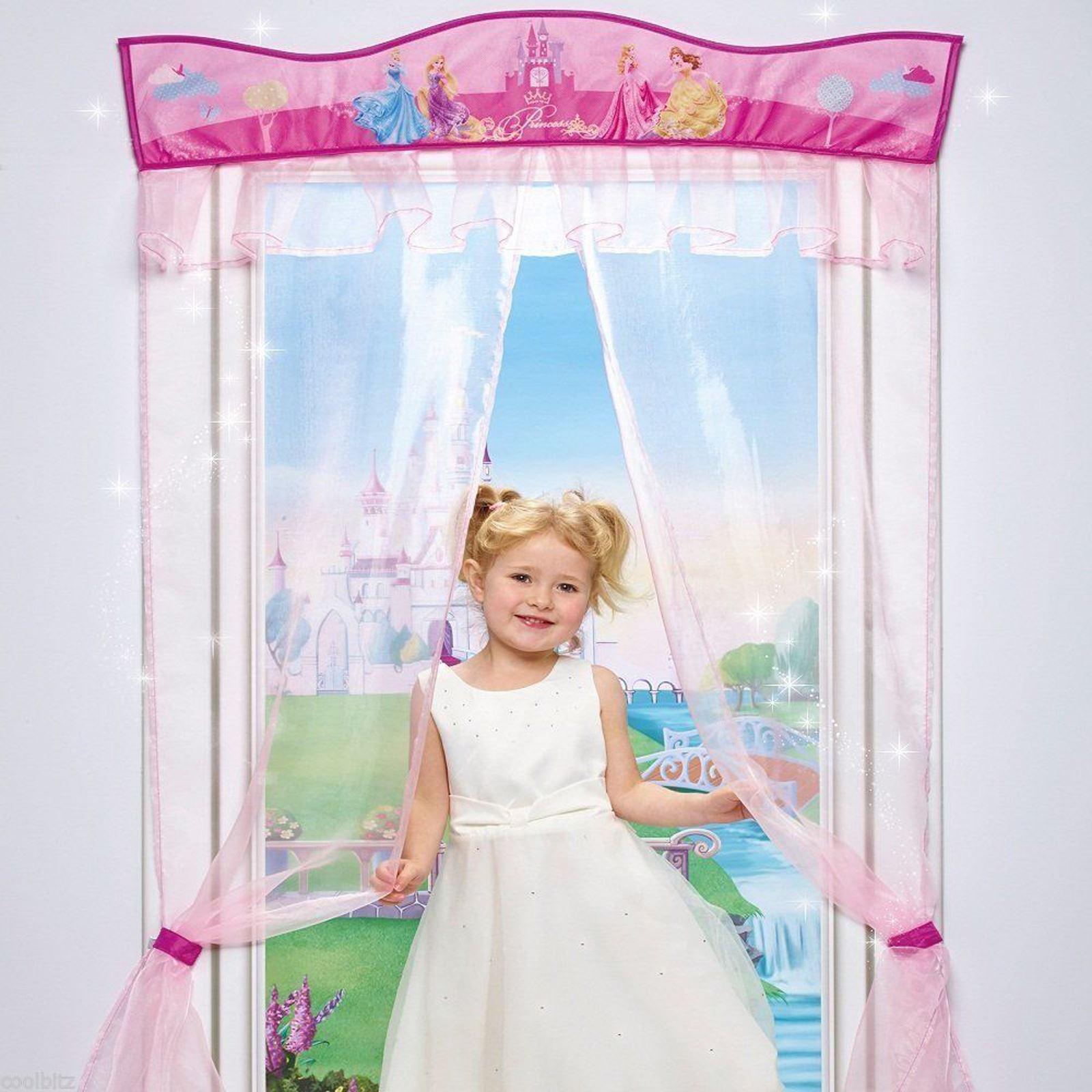 DISNEY PRINCESS DOOR DECOR CURTAIN NEW GIRLS BEDROOM