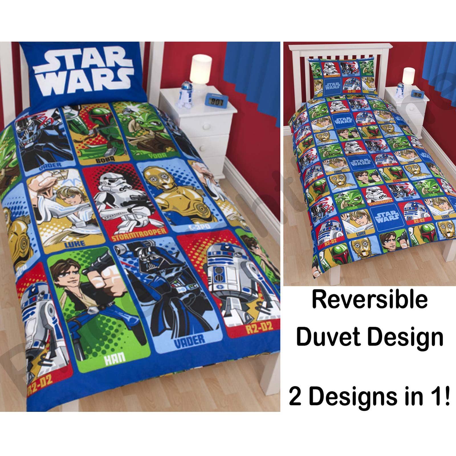 couvre lit couette star wars 39 cartoon 39 officiel enfant ebay. Black Bedroom Furniture Sets. Home Design Ideas