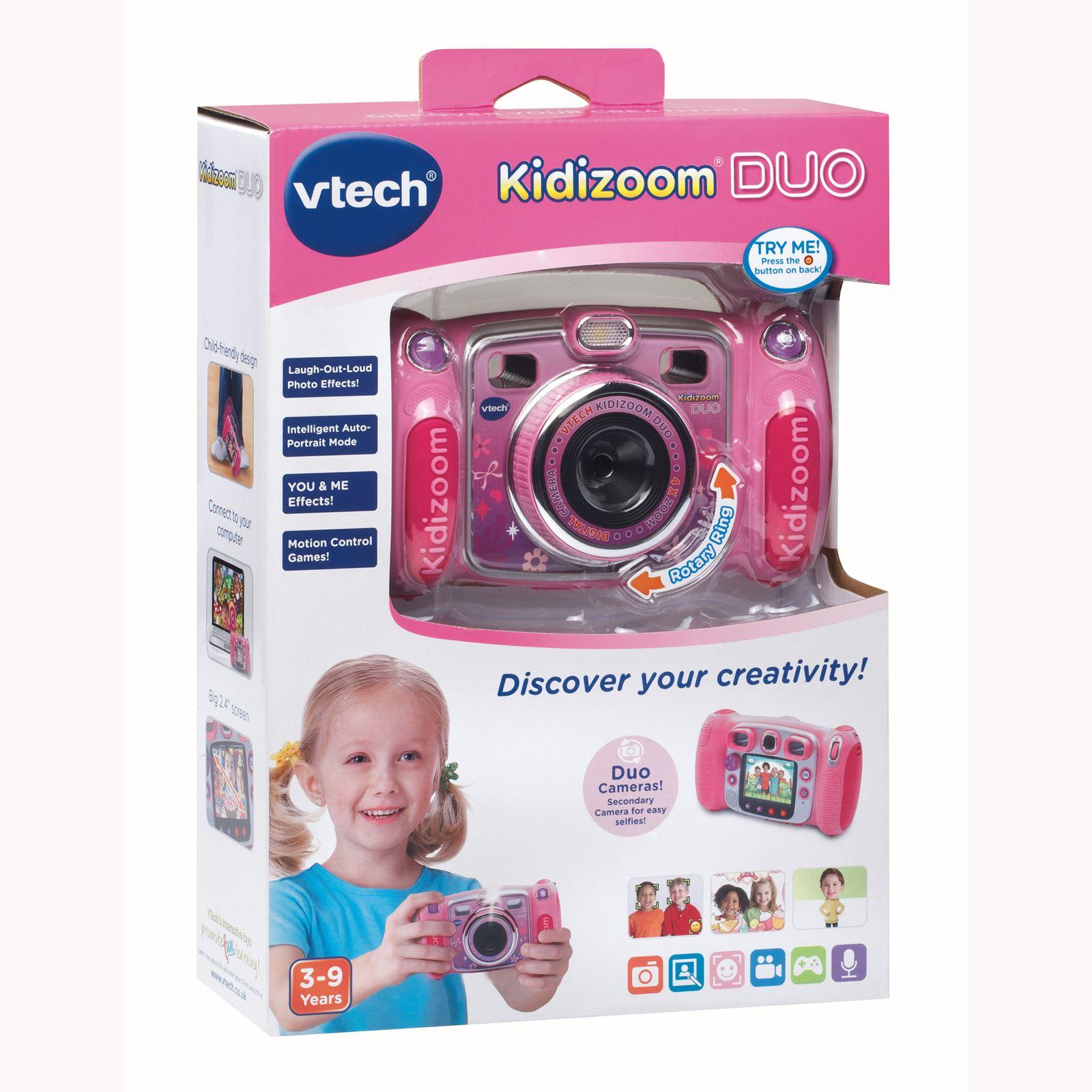 vtech kidizoom duo digital camera pink new kids ebay. Black Bedroom Furniture Sets. Home Design Ideas