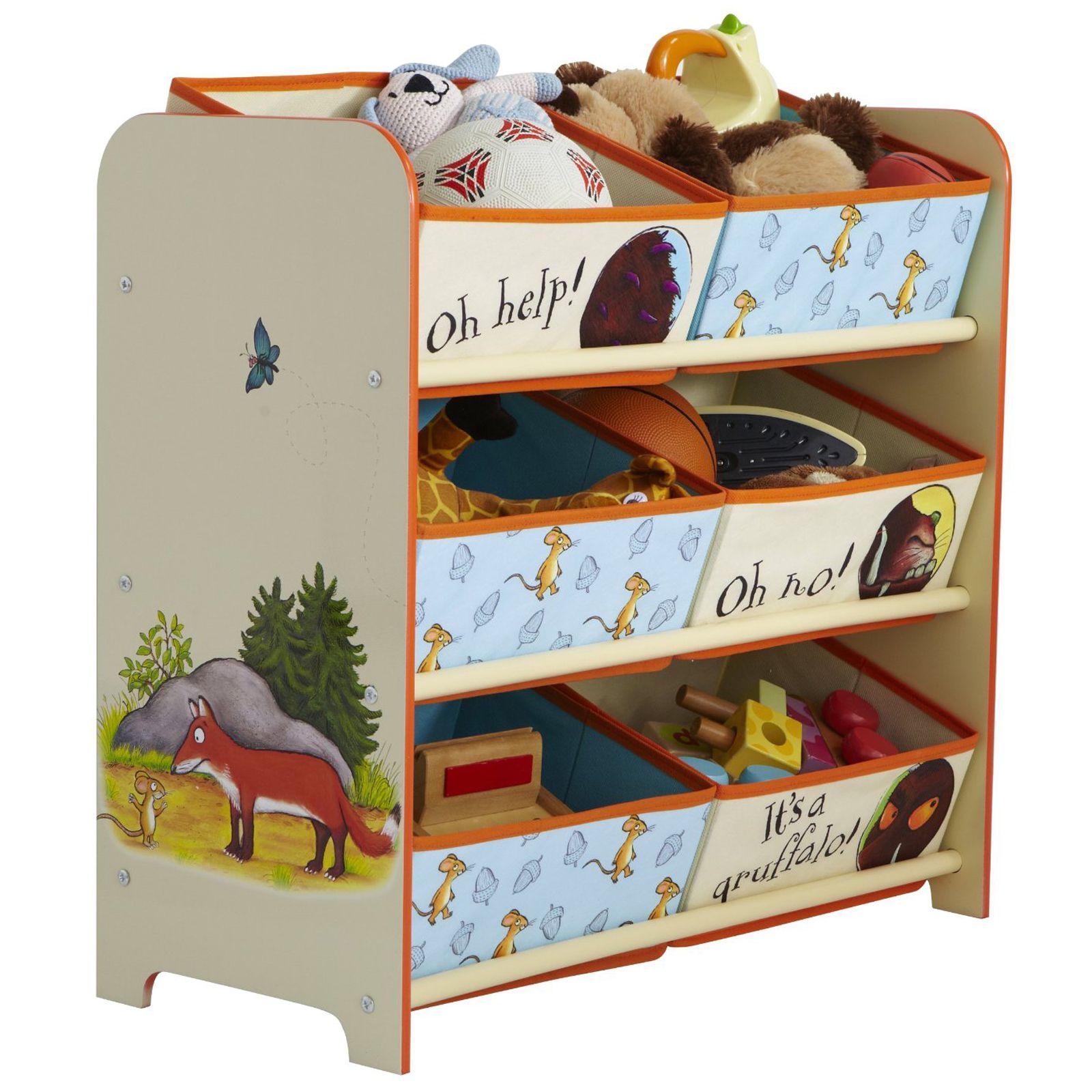 Gruffalo 6 bin storage unit new 100 official furniture ebay for Gruffalo fabric