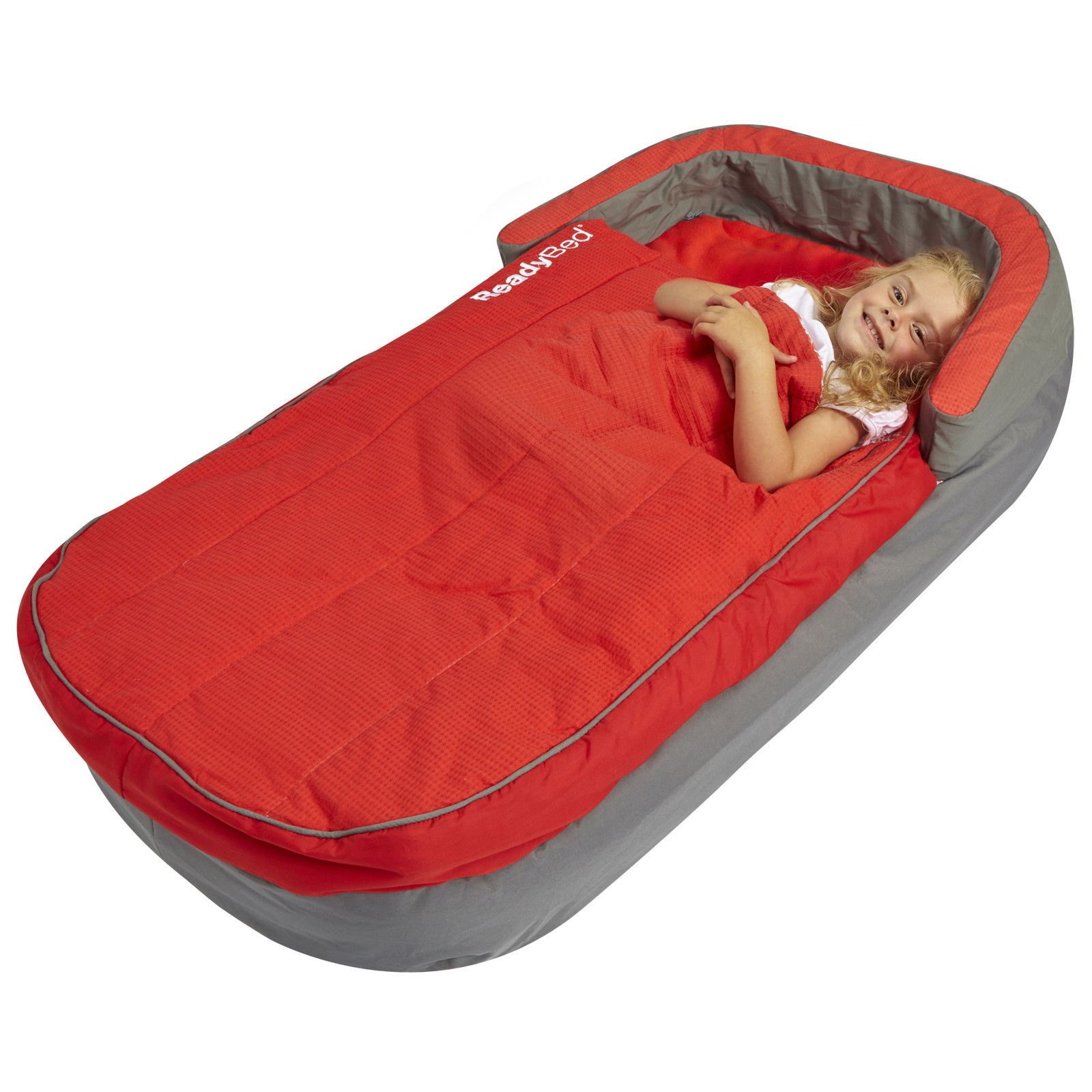 deluxe my first ready bed inflatable sleeping bag pump readybed ebay. Black Bedroom Furniture Sets. Home Design Ideas