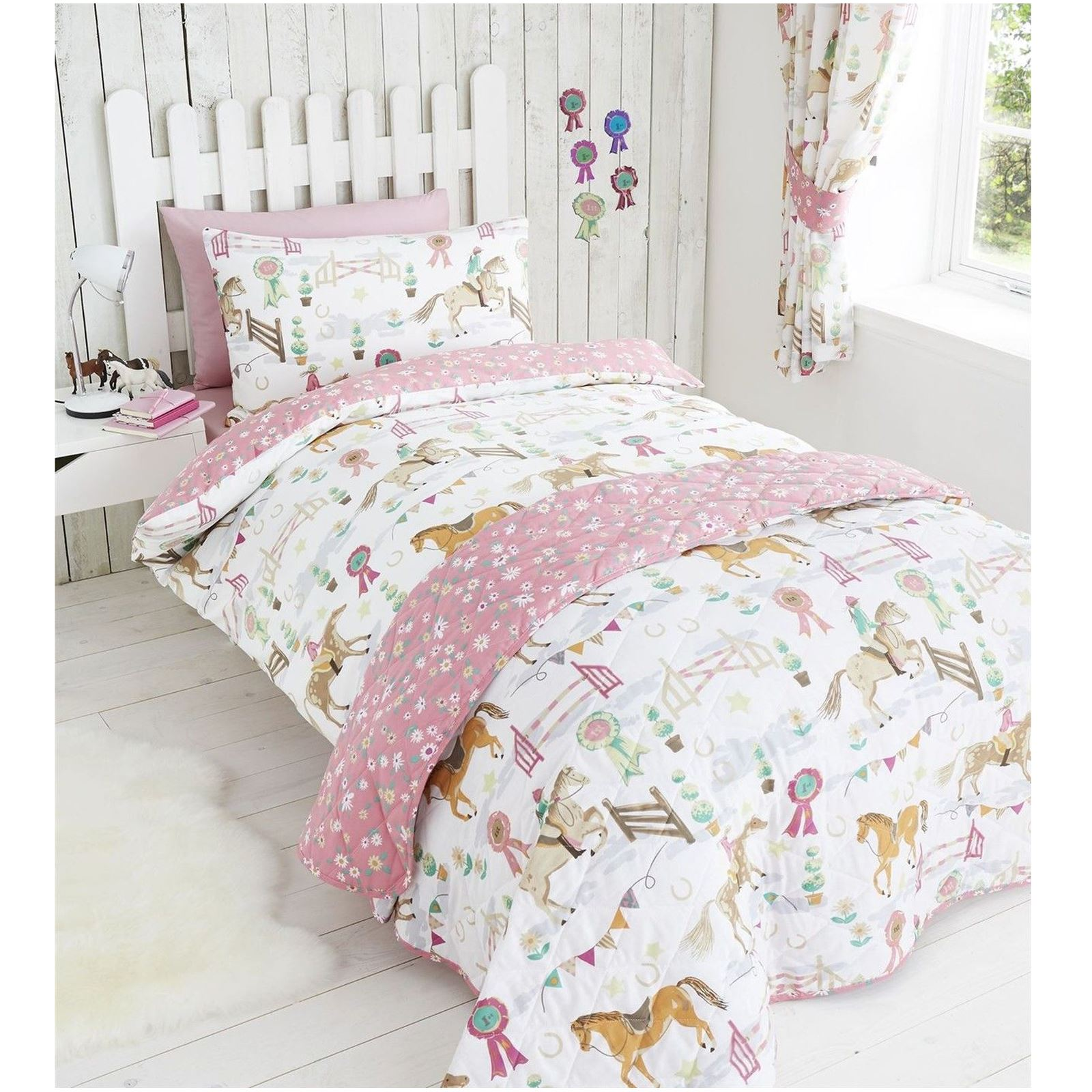 Horse Show Duvet Cover Sets In Various Sizes Girls Bedding