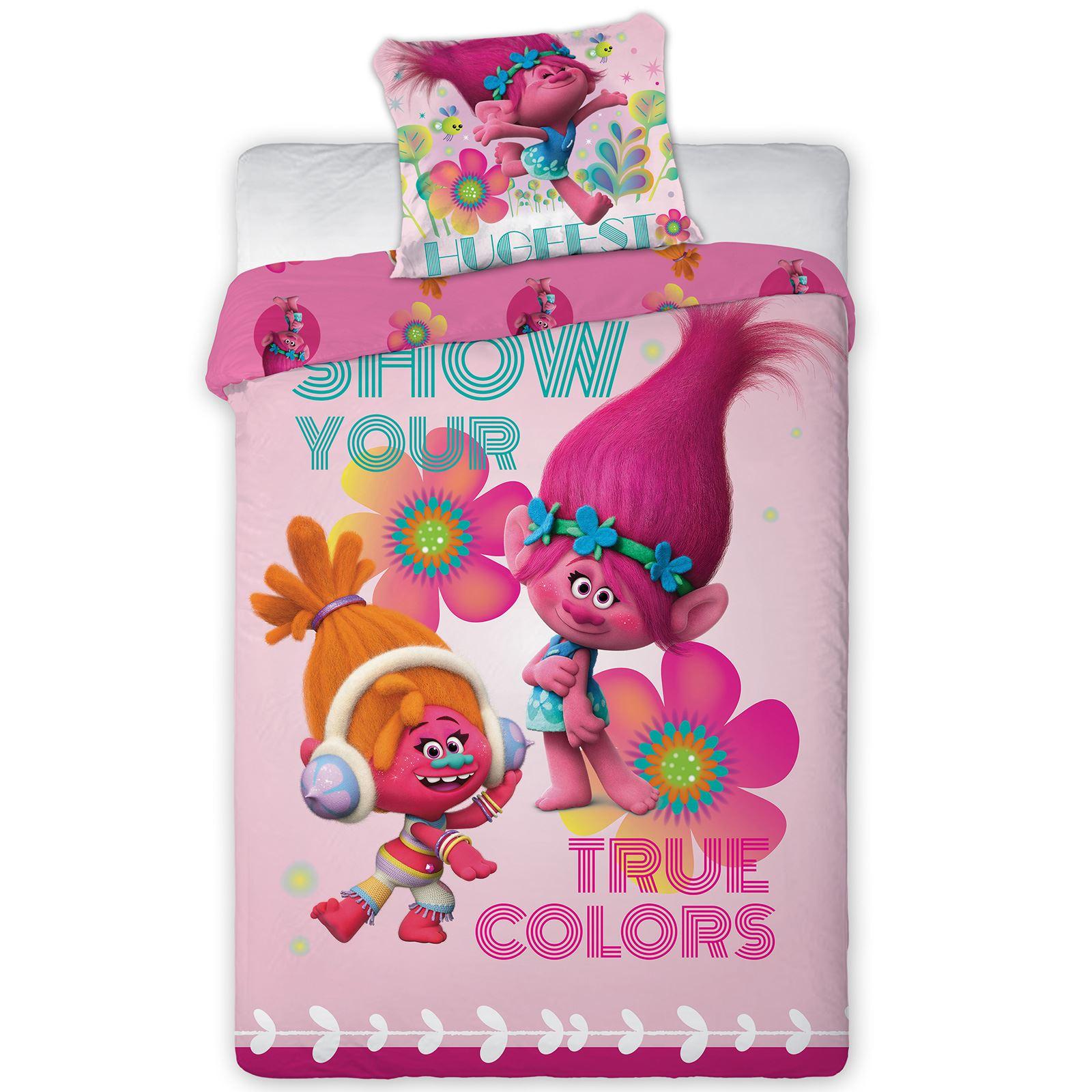 Trolls Duvet Cover And Pillowcase Sets Kids Bedding New