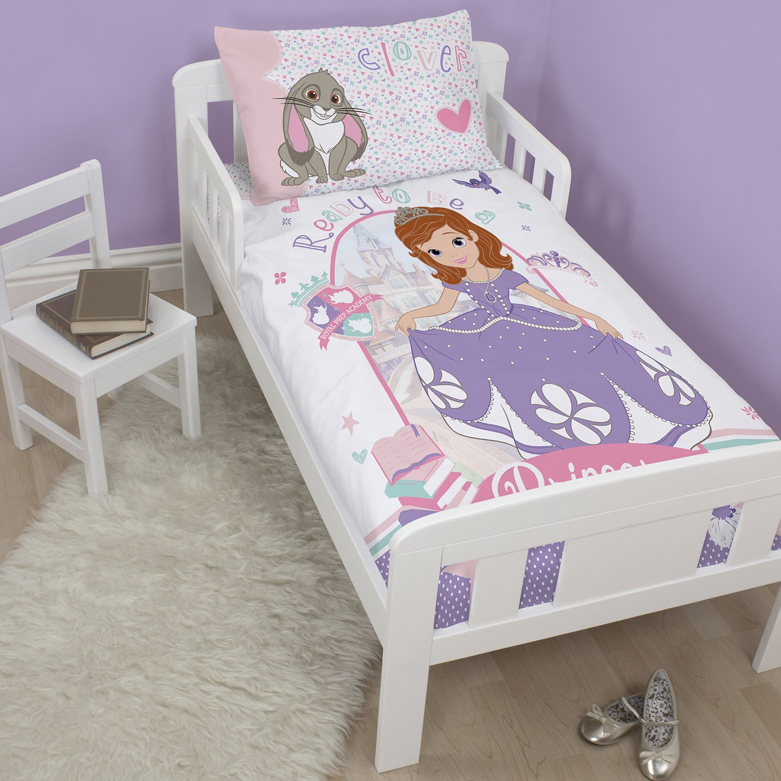 disney sofia die erste kinderbett bettbezug set neu bettw sche ebay. Black Bedroom Furniture Sets. Home Design Ideas