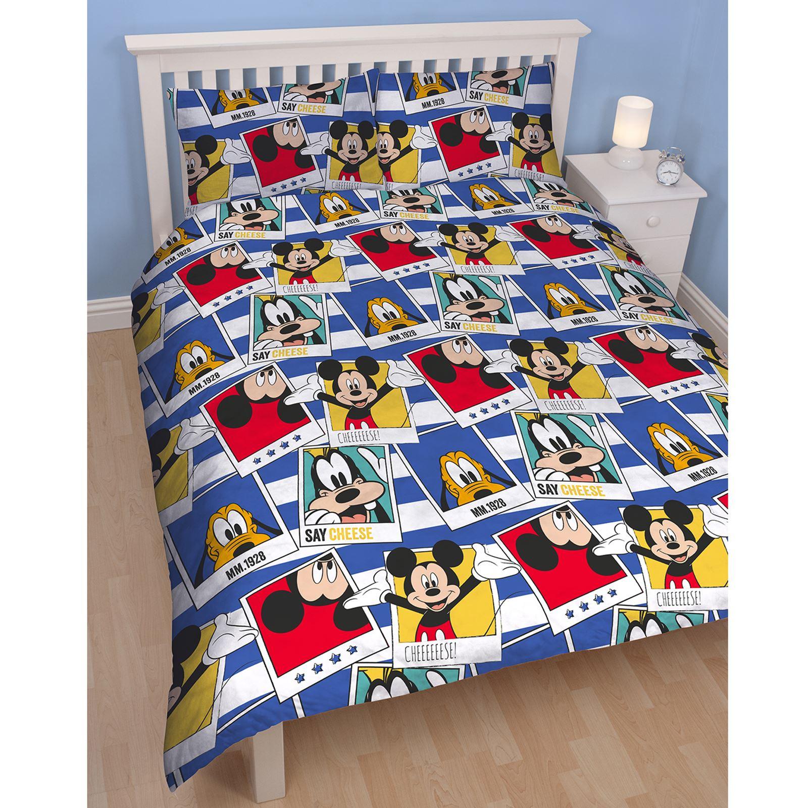 Mickey mouse polaroid set housse de couette double - Housse de couette mickey adulte ...