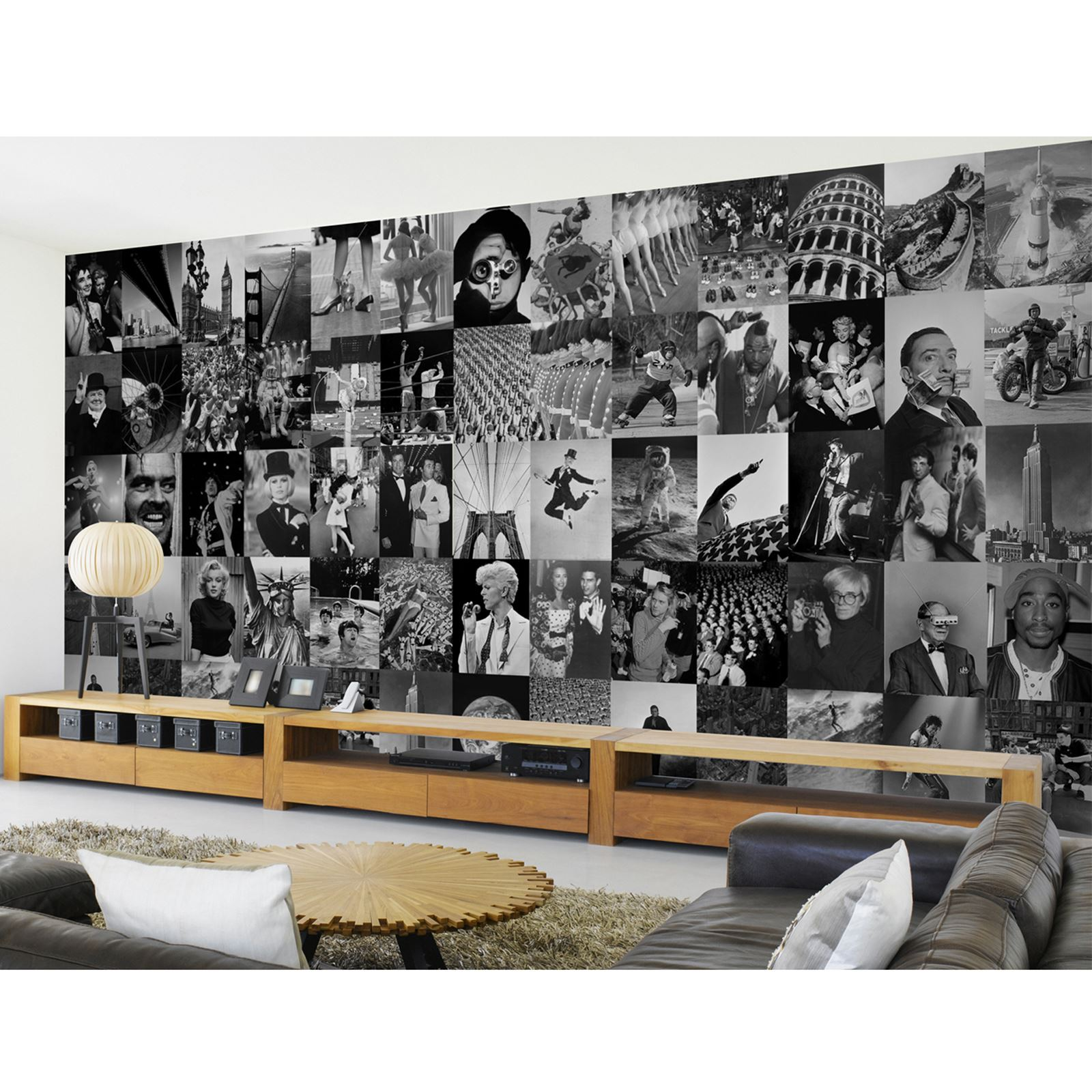 Creative collage life designer wall mural 64 piece for Collage mural ideas